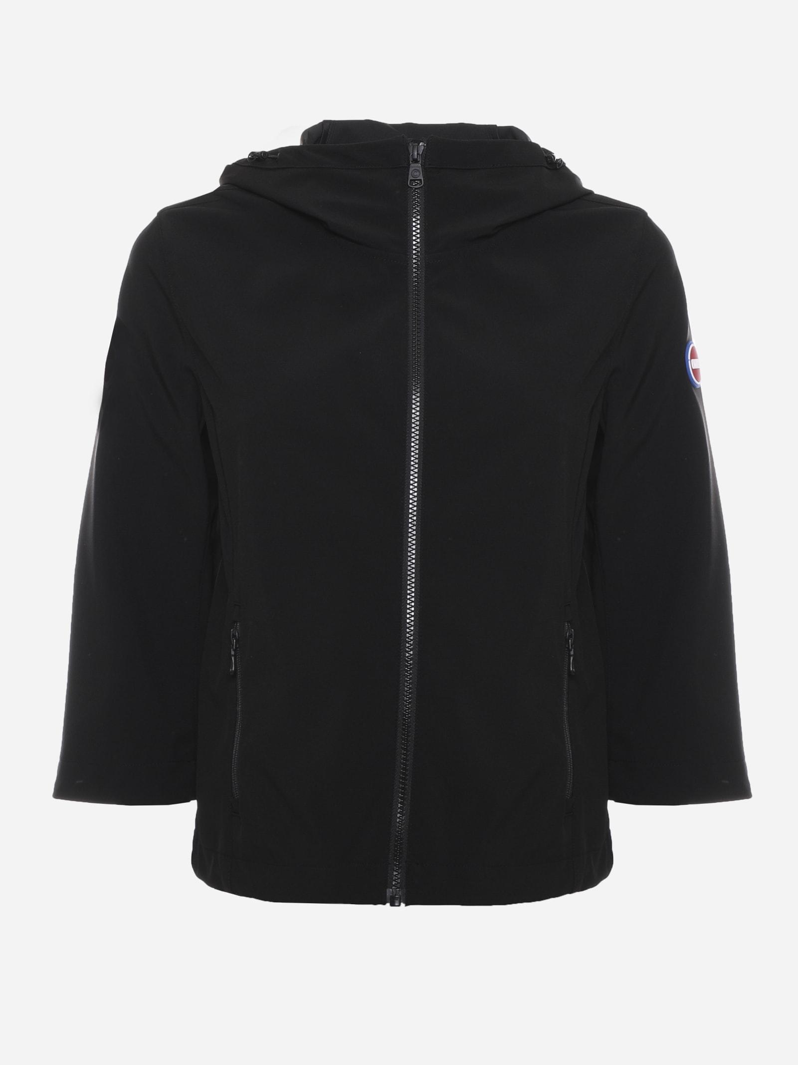 Hooded Jacket With Side Rubberized Logo