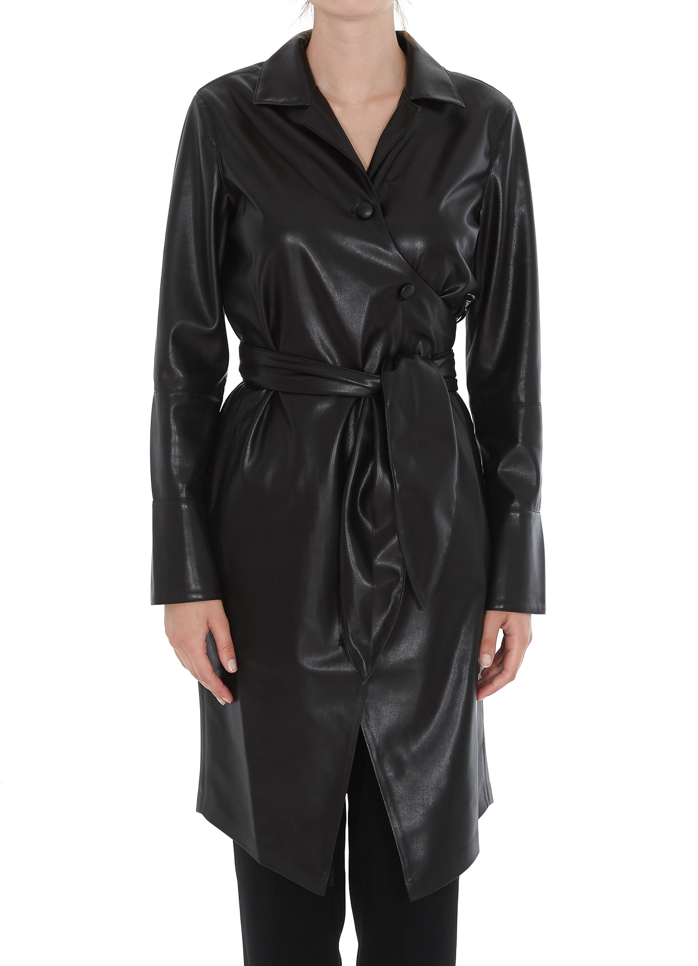 Nanushka Trench Coat With Belt