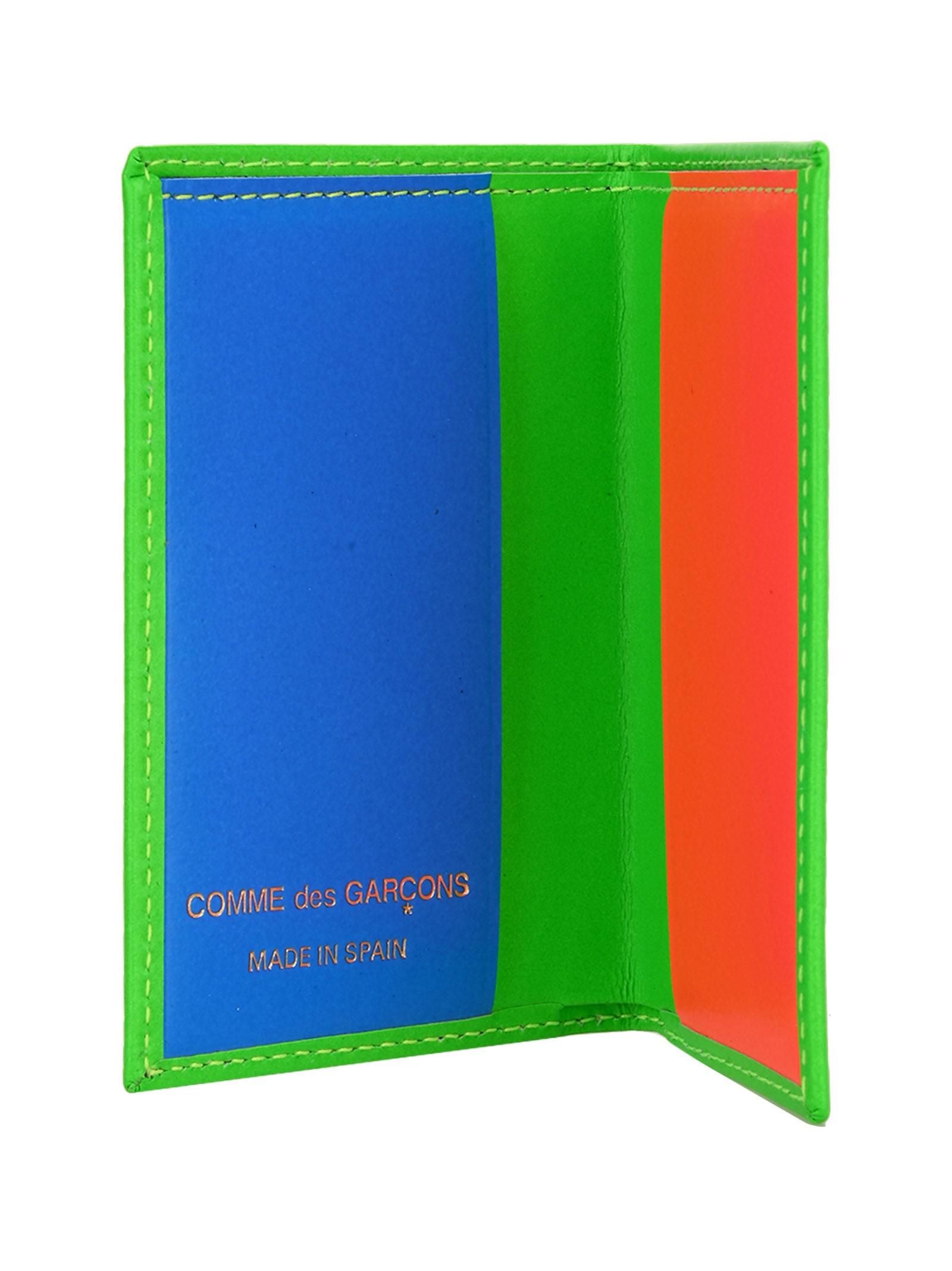 Particular Comme Des Garcons Wallet Cards Fluo