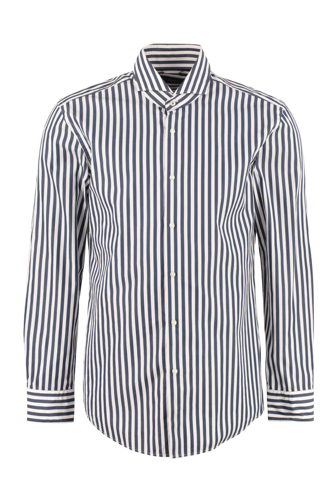 Hugo Boss Spread Collar Cotton Shirt