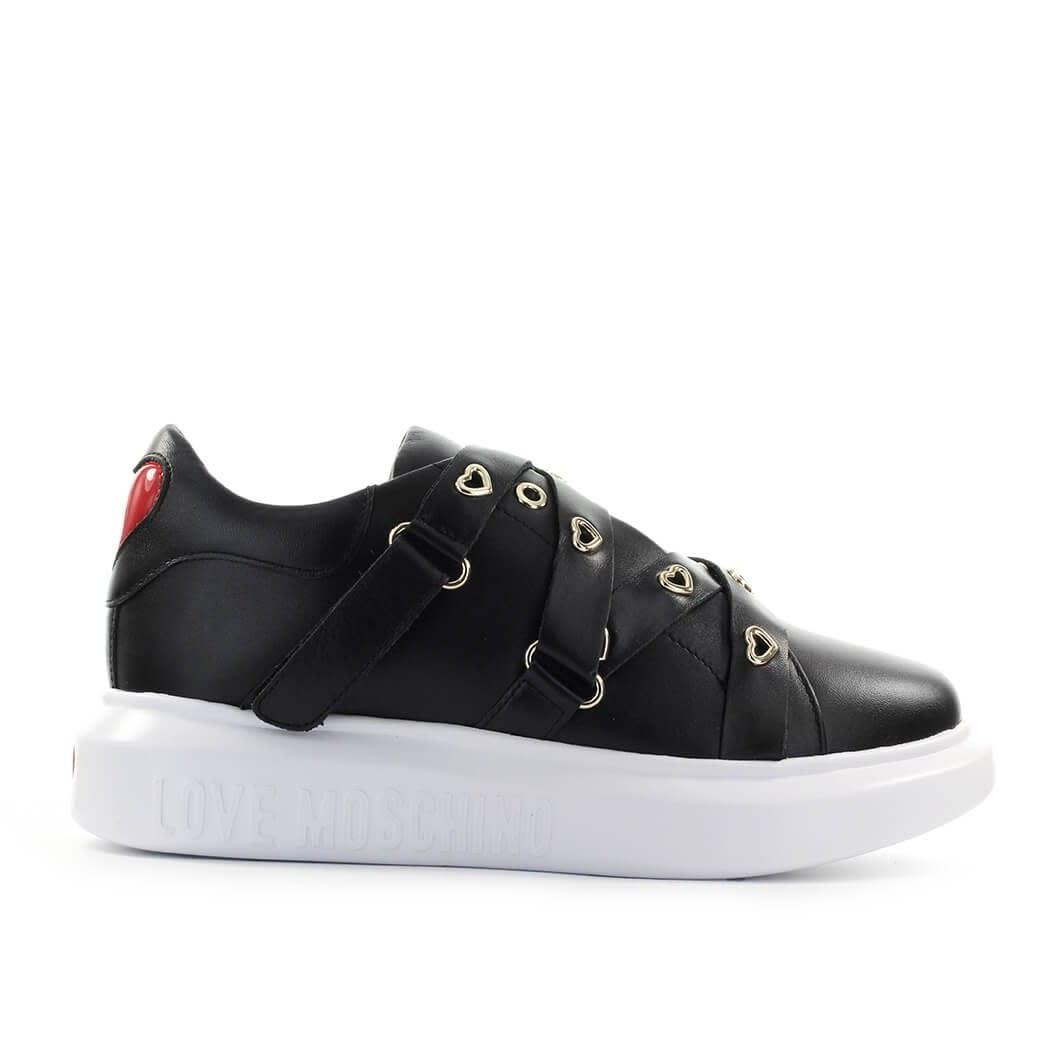 Love Moschino Black Straps Sneaker