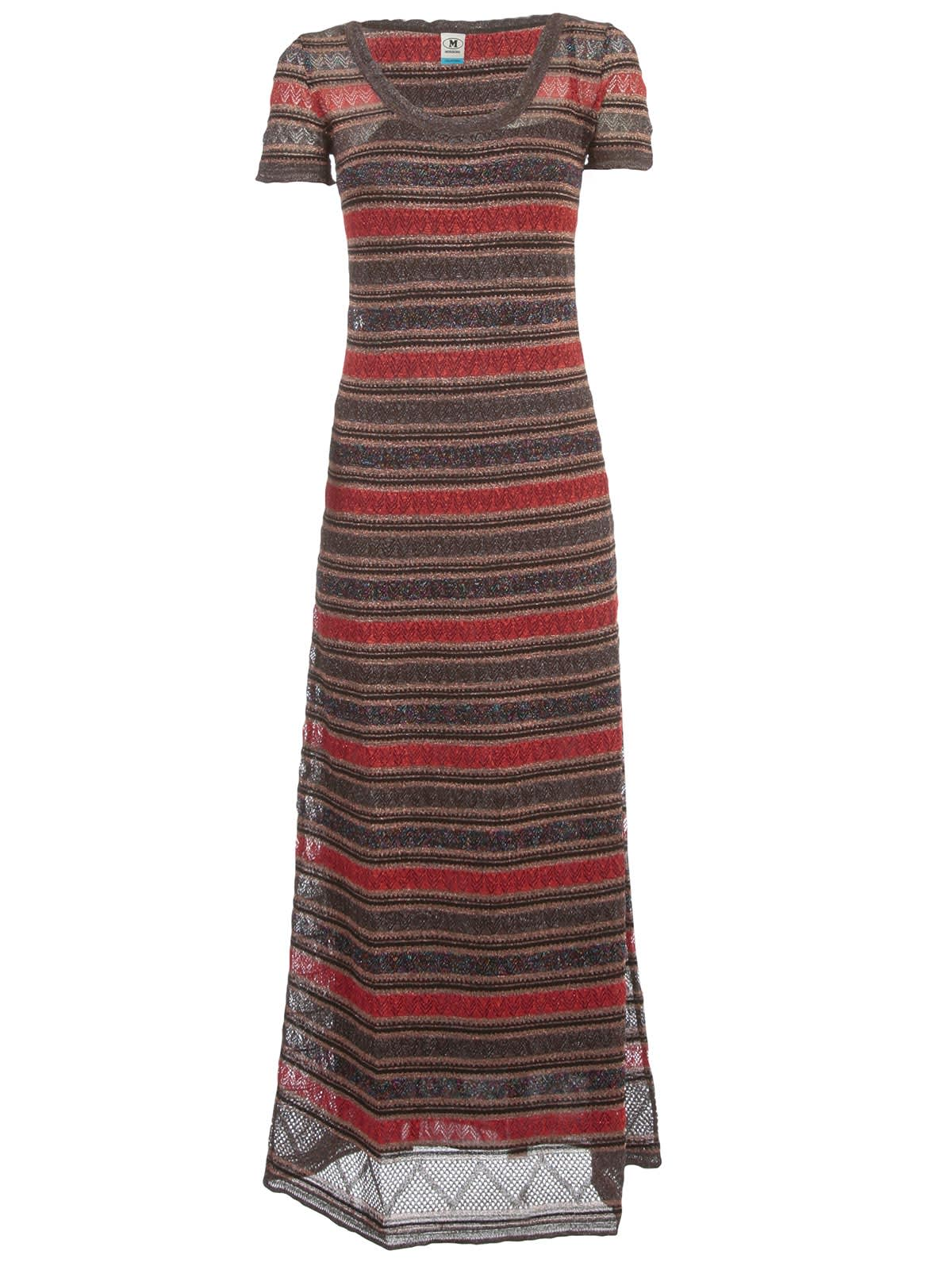 Buy M Missoni Dress S/s Wide Neck Lace Lurex online, shop M Missoni with free shipping