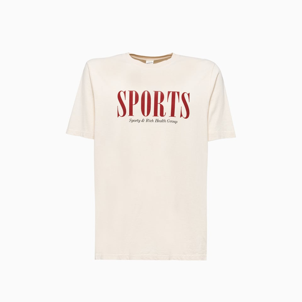 Sporty And Rich Sports T-shirt Ts261cr In Cream