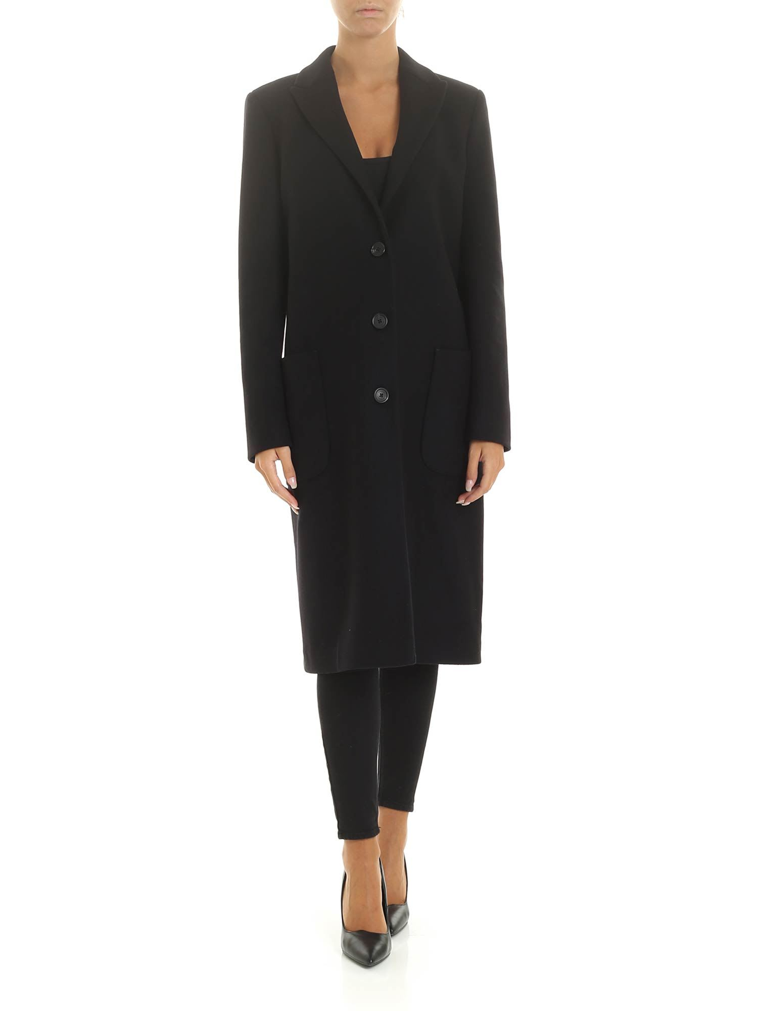 Dondup Virgin Wool Long Coat