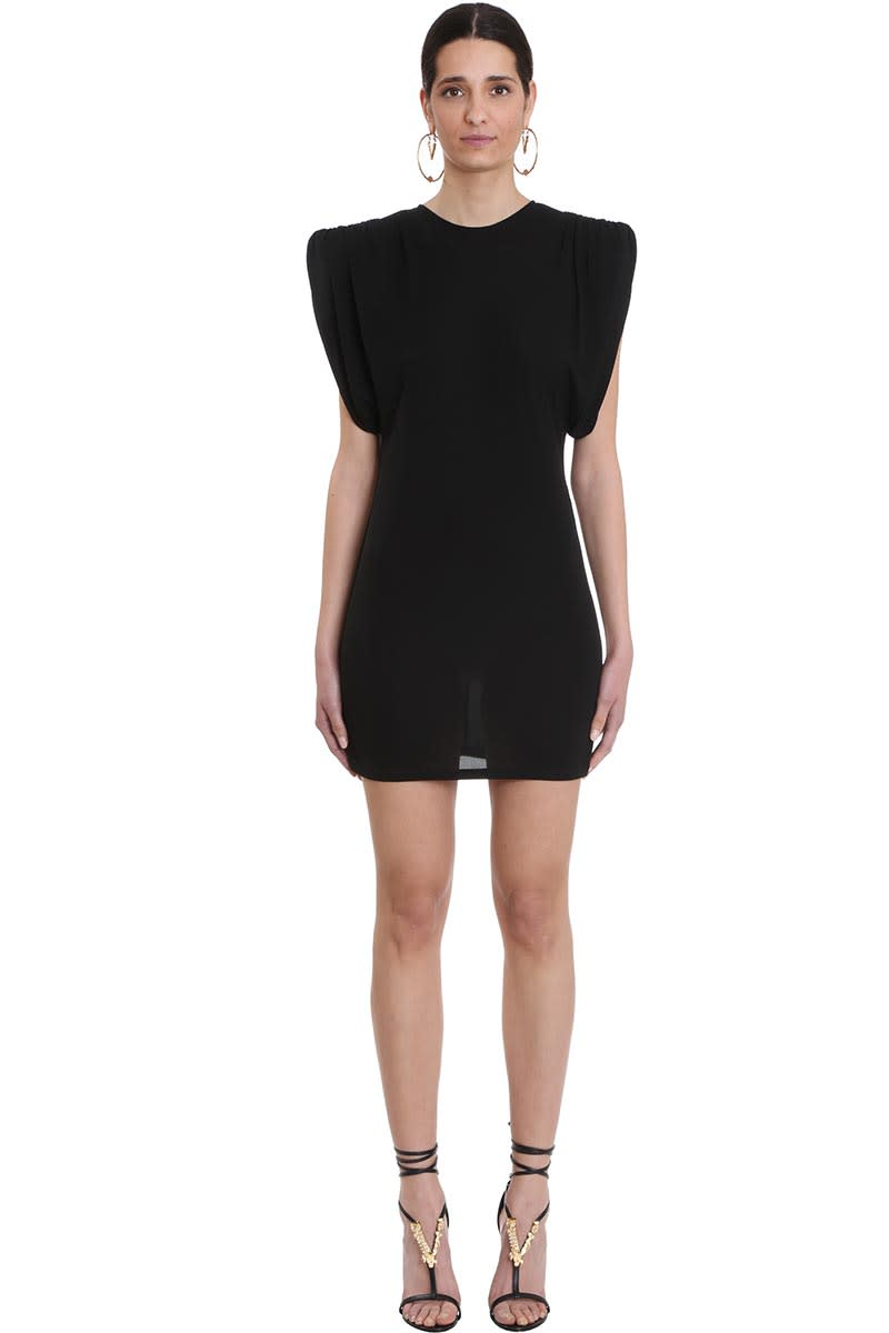 Buy Versace Dress In Black Viscose online, shop Versace with free shipping