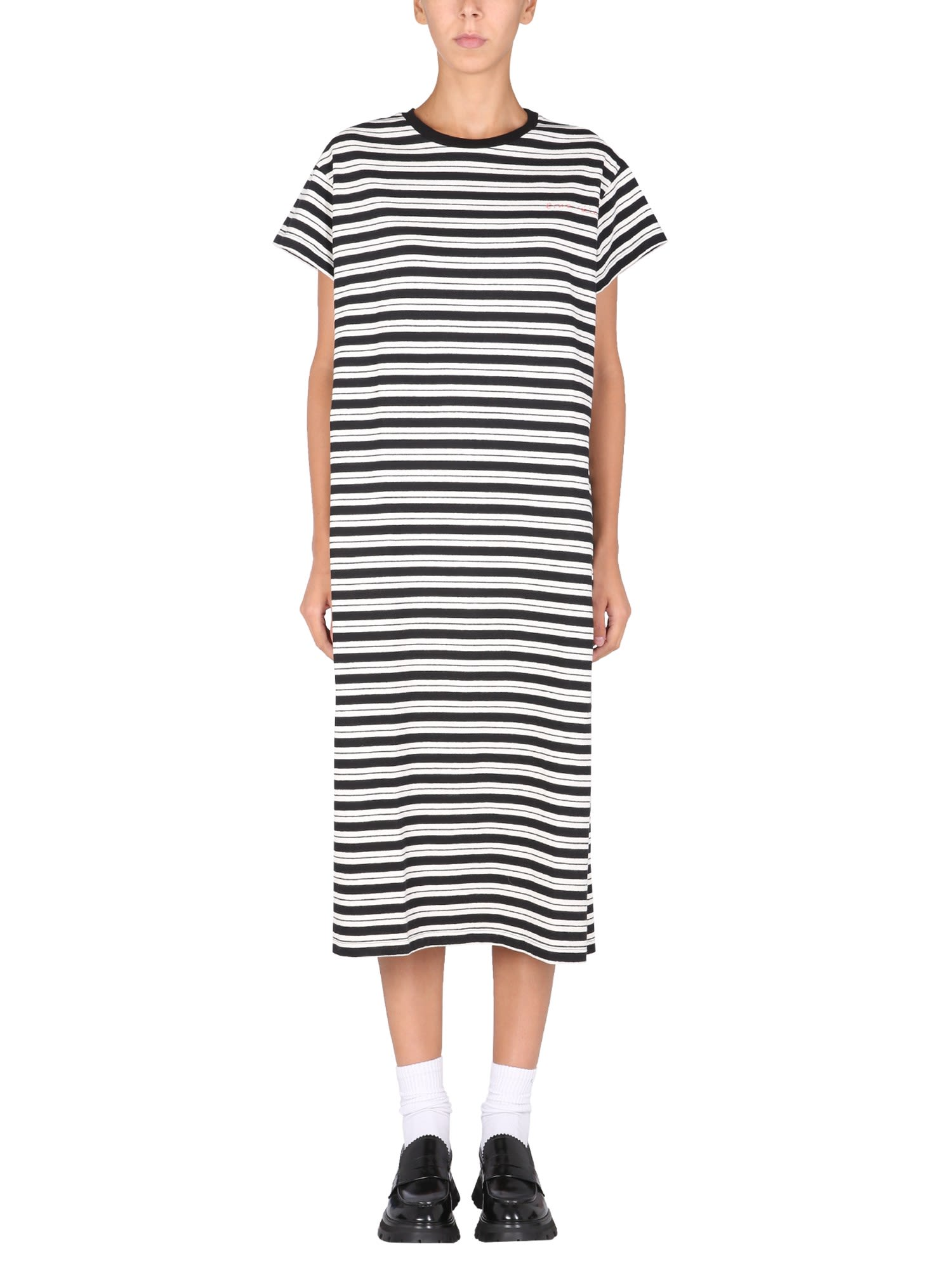 Dress With Lettering Logo Print