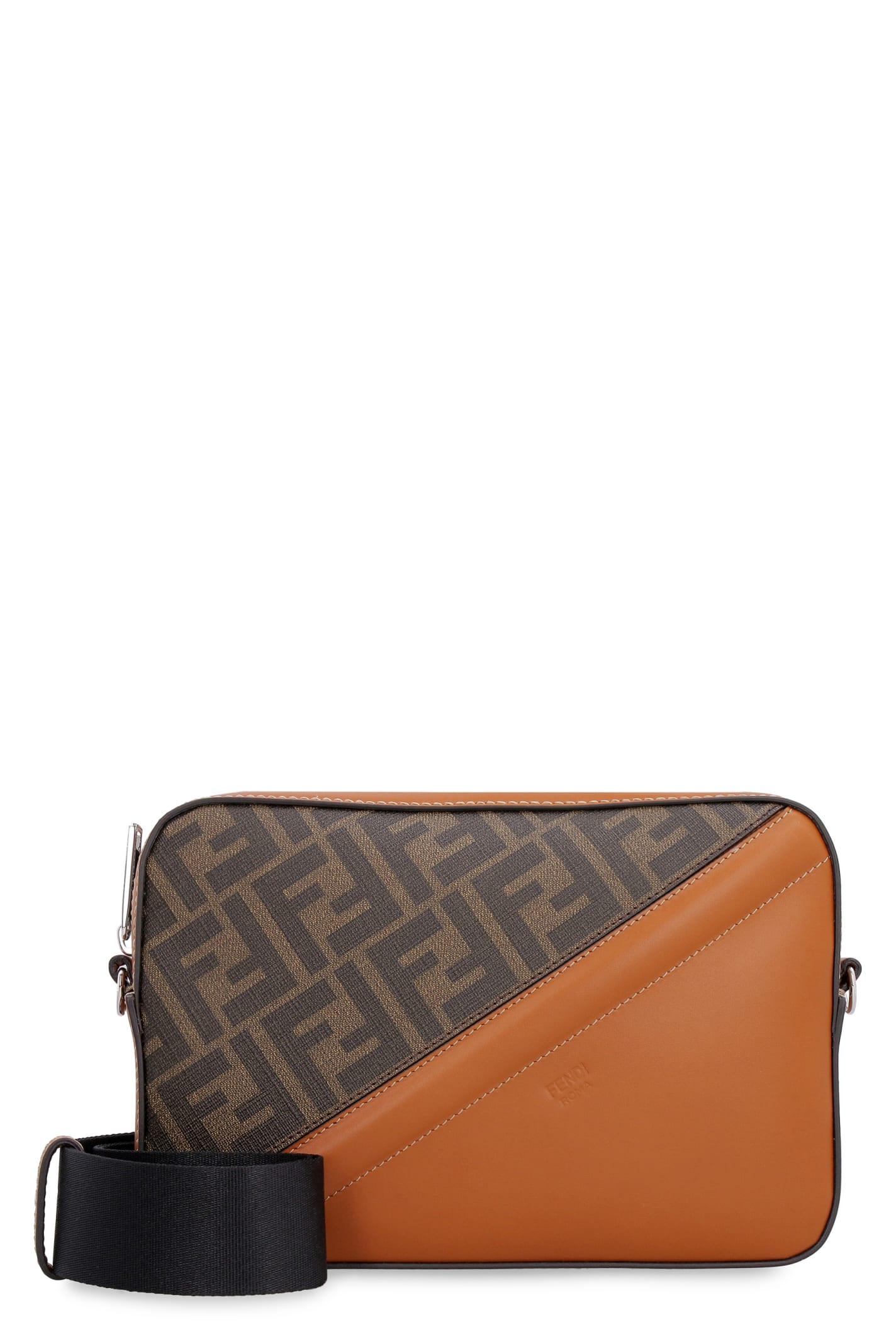 Fendi Leathers CAMERA CASE MEDIUM FABRIC SHOULDER BAG