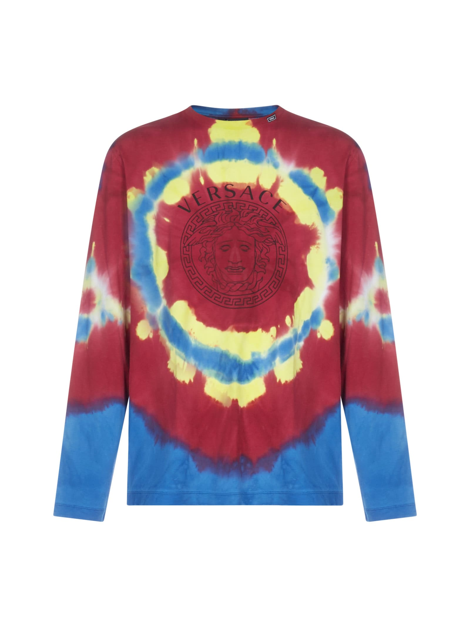 Versace Logo And Tie-dye Print Long Sleeves T-shirt