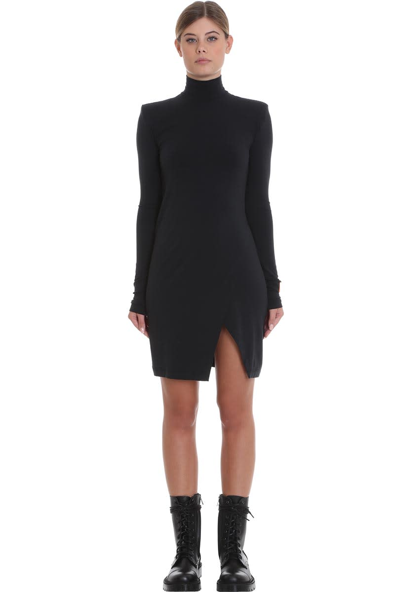 HERON PRESTON Jersey Dress Dress In Black Cotton