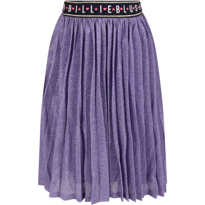 Puprle Skirt For Girl