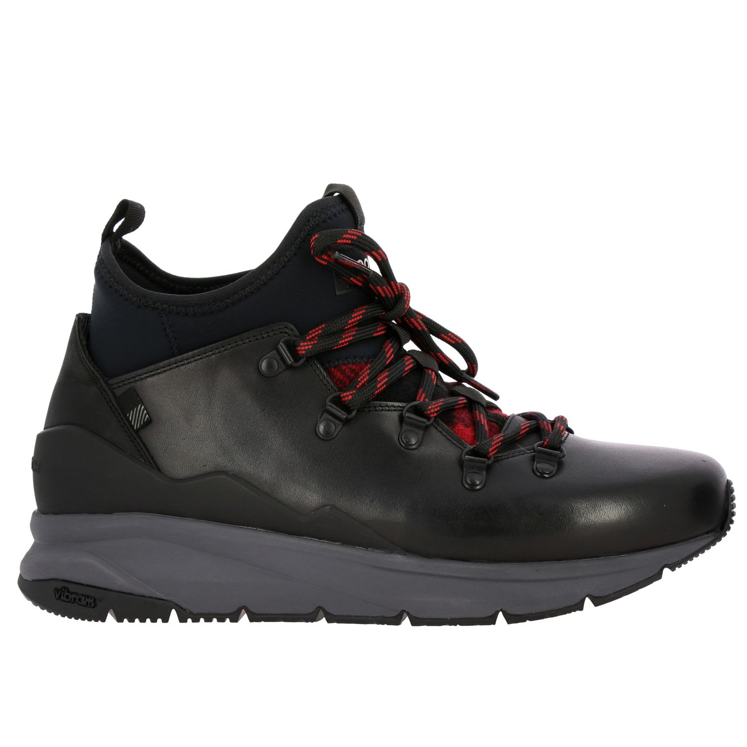Woolrich Sneakers Woolrich Boots In Leather And Neoprene With Trekking Laces