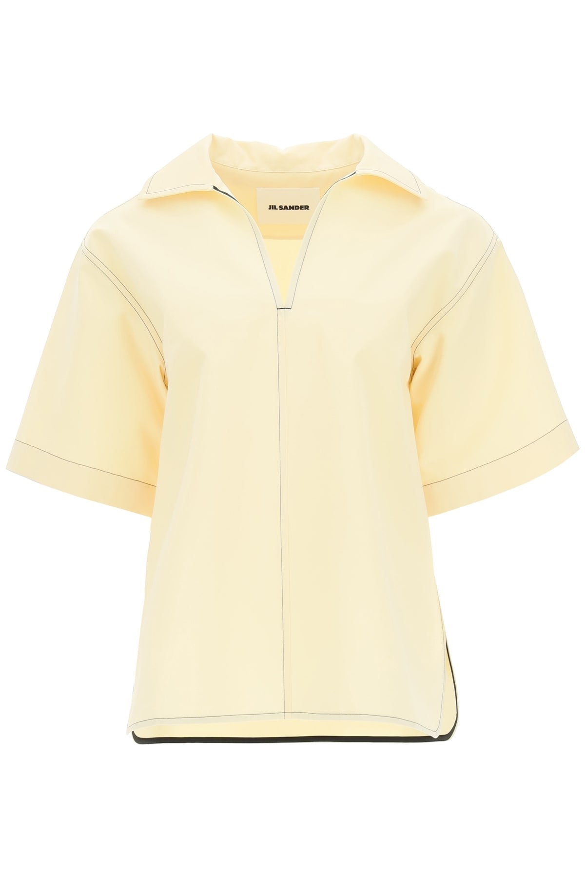Jil Sander TUNIC BLOUSE IN COTTON AND SILK