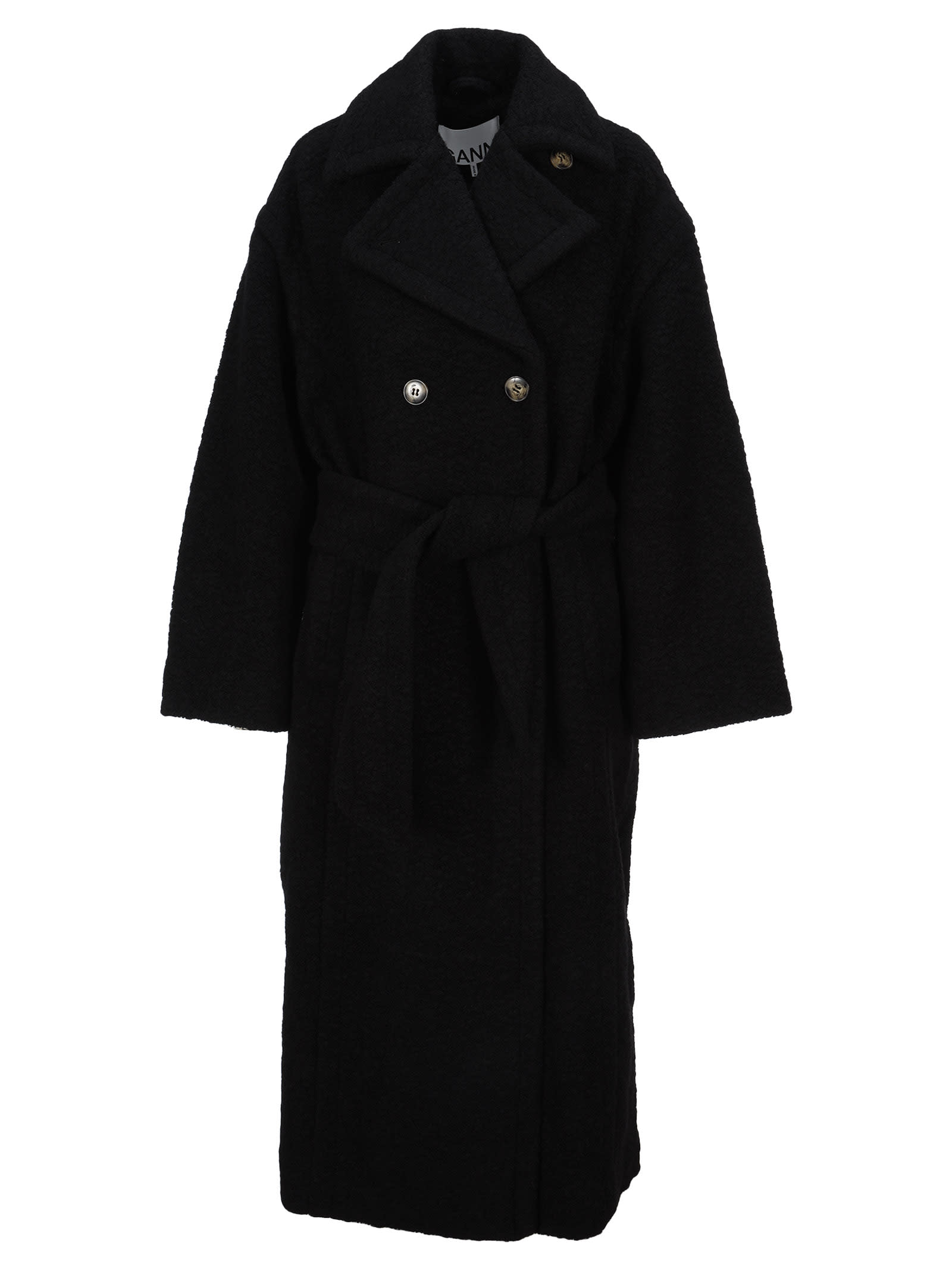 Ganni Buttoned Oversized Coat