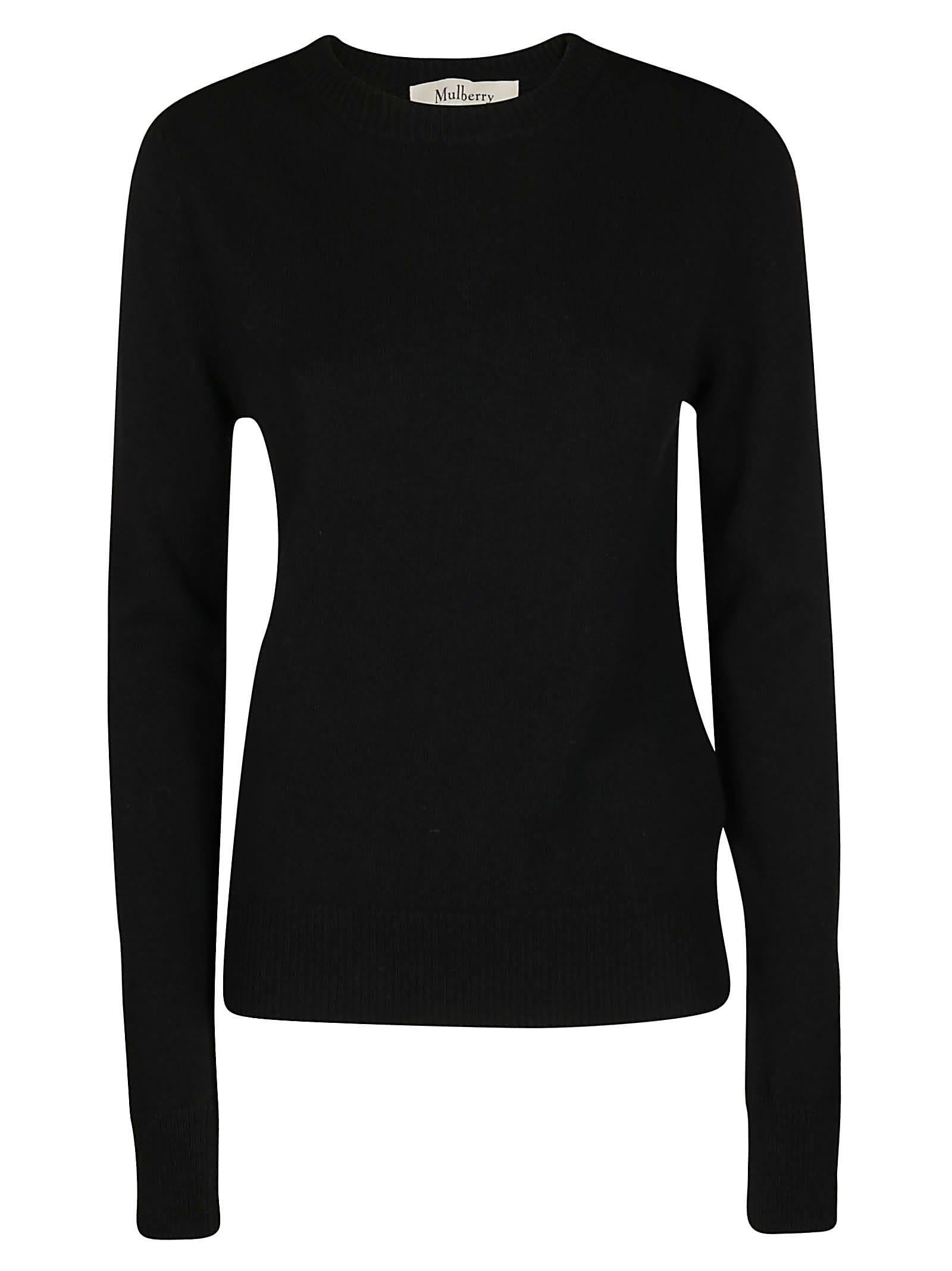 Mulberry Black Wool-cashmere Blend Nancie Jumper