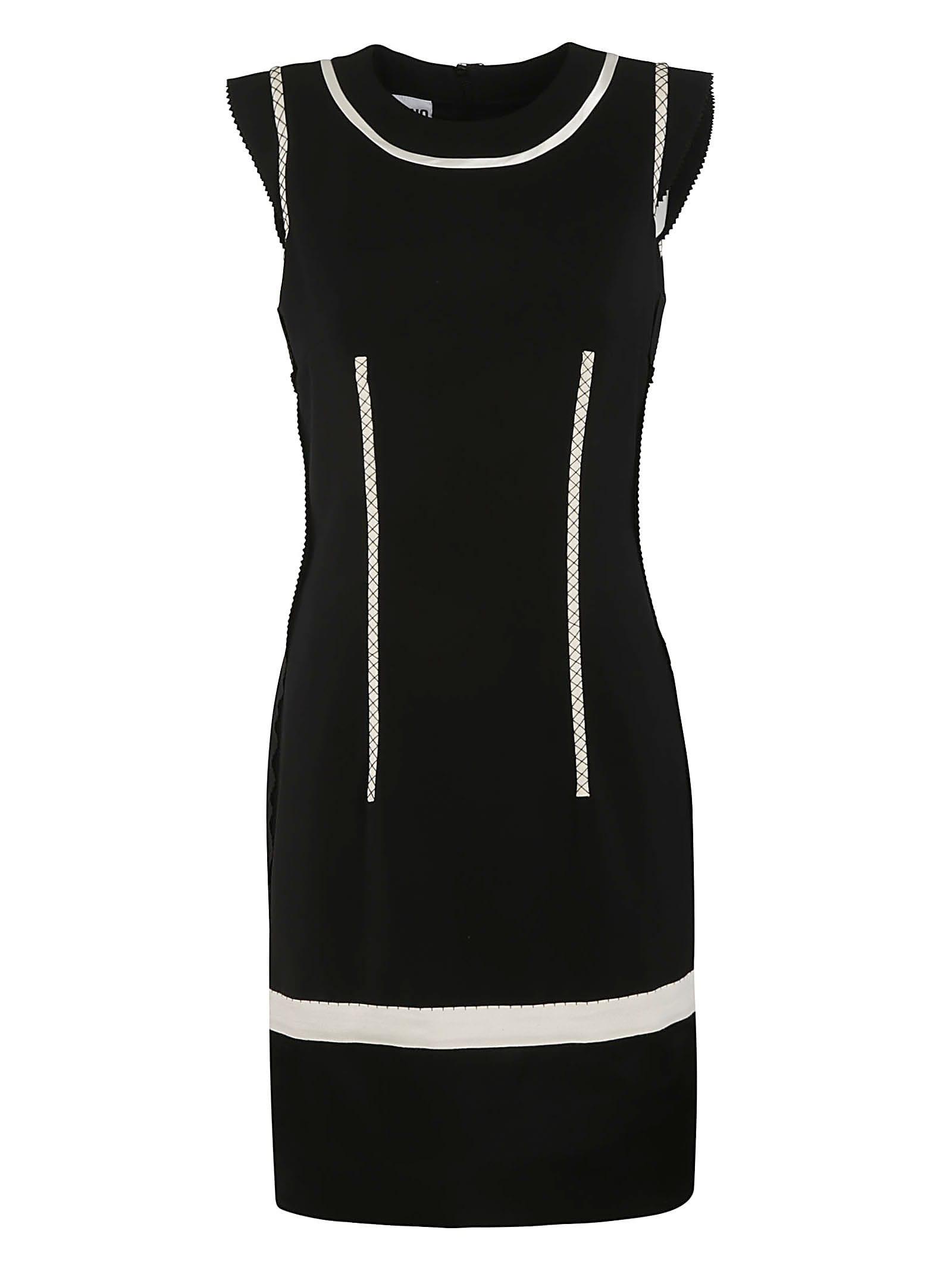 Moschino Rear Zip Sleeveless Slim Dress