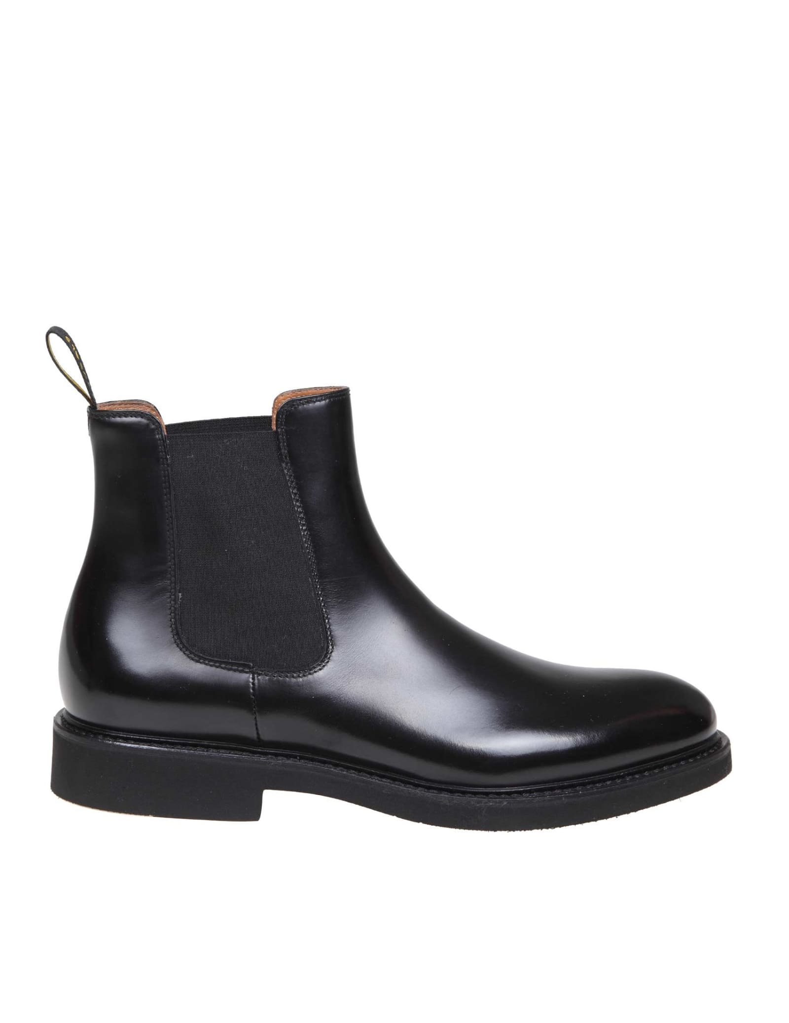 Doucals Black Leather Ankle Boot