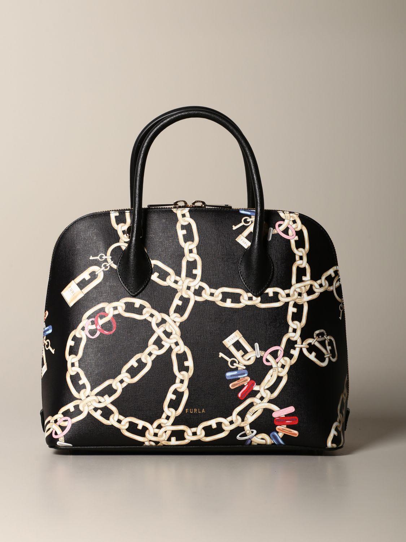 Furla Handbag Furla Bag With Chain Print