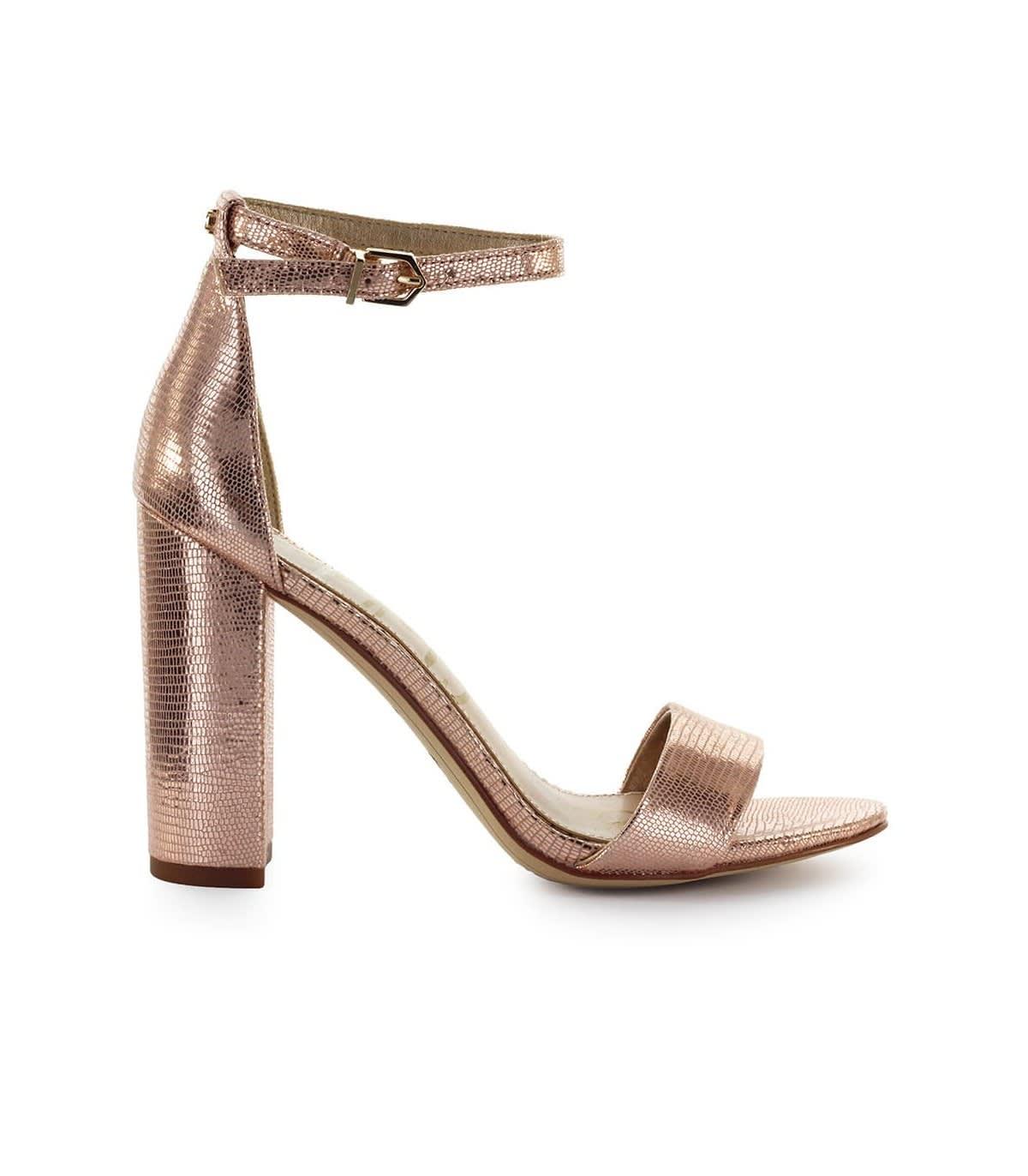 af45bd91f55 Sam Edelman Yaro Rose Gold Heeled Sandal