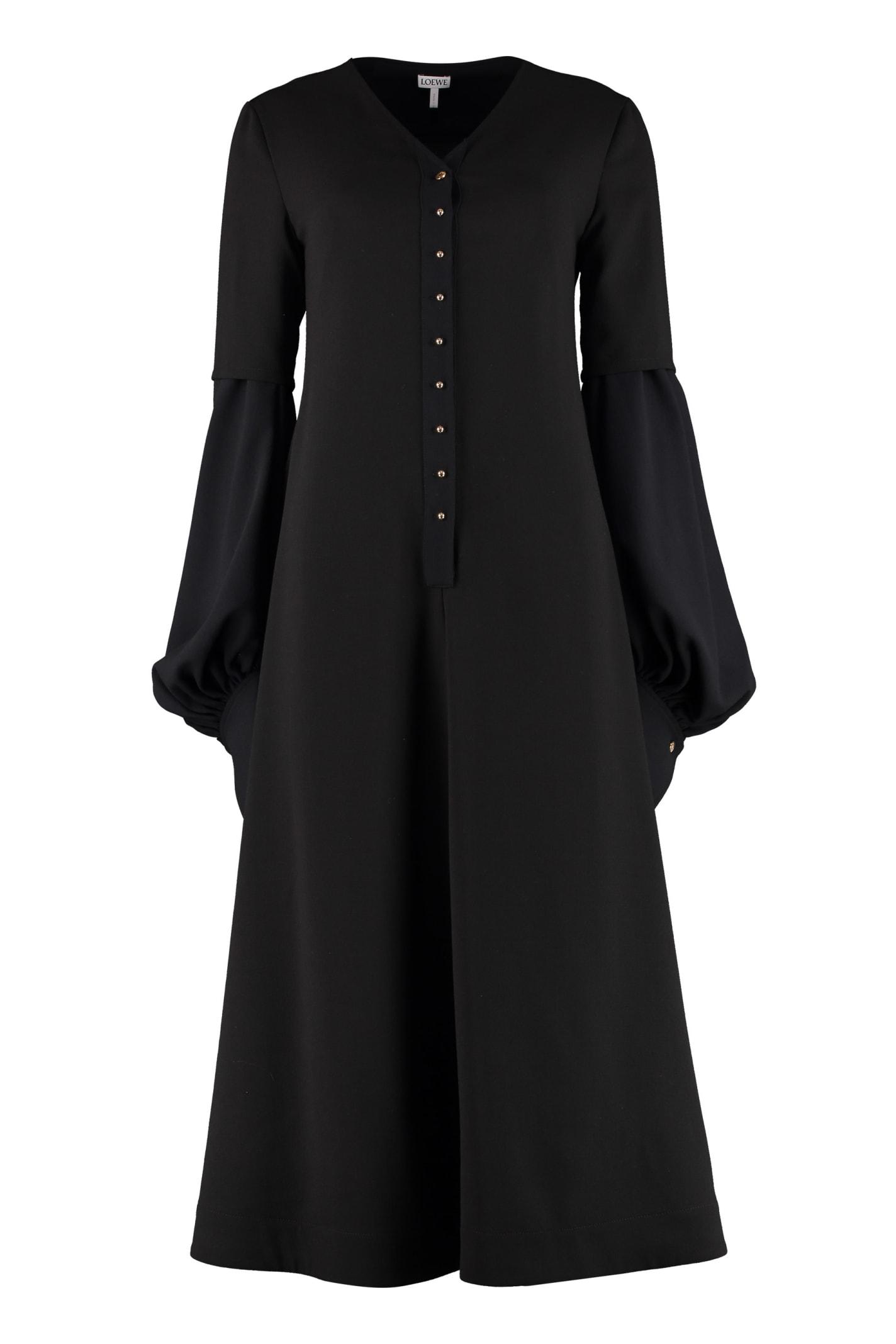Buy Loewe Ruched Sleeves Dress online, shop Loewe with free shipping