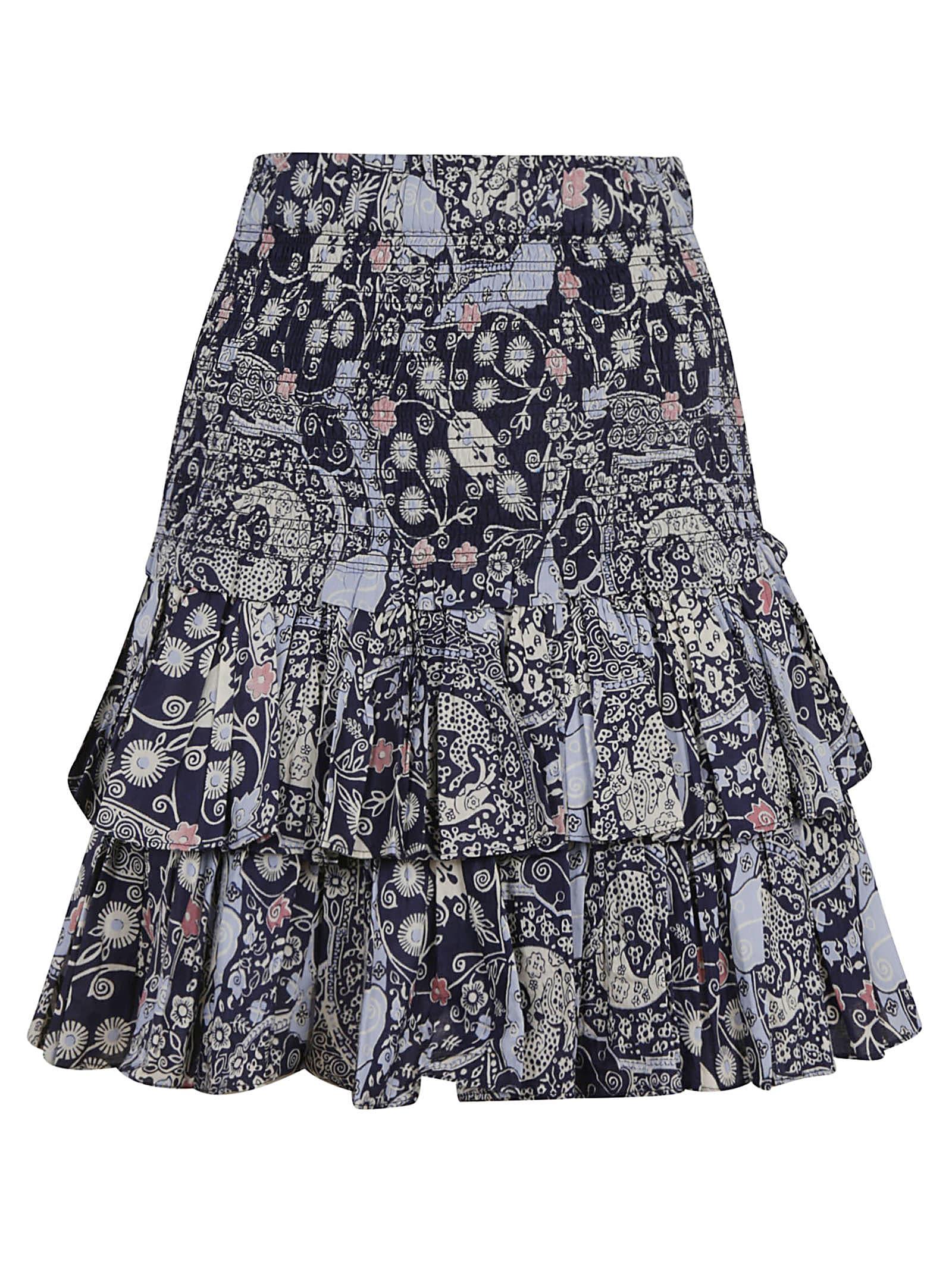Buy Isabel Marant Ruffled Printed Dress online, shop Isabel Marant with free shipping