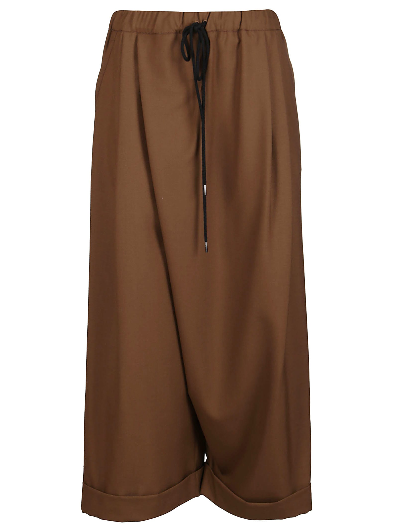 Marni BROWN VIRGIN WOOL TROUSERS