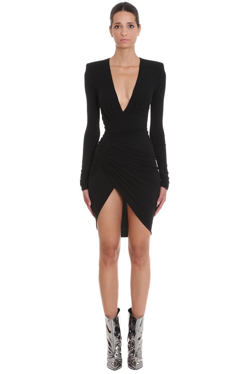 Alexandre Vauthier Dress In Black Polyester