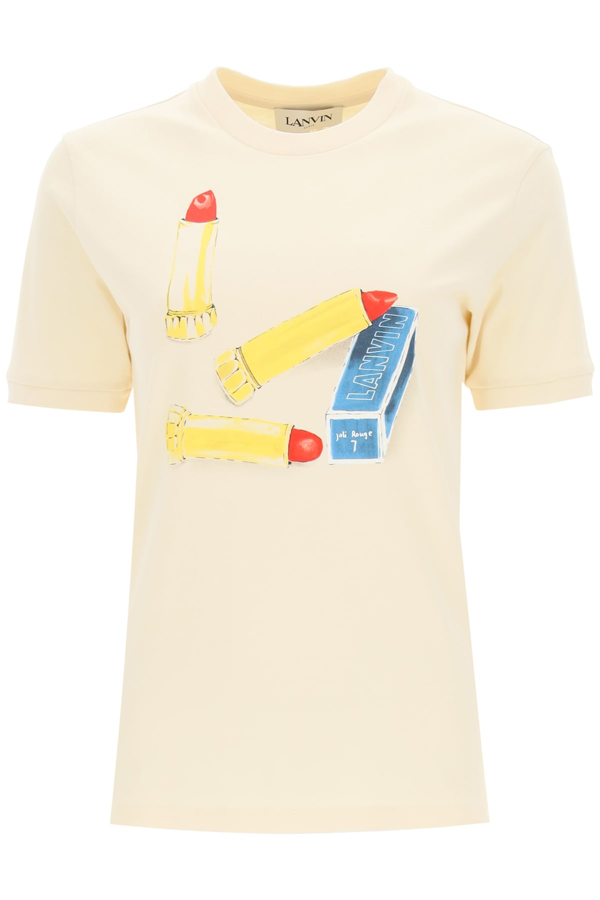 Lanvin T-shirts LIPSTICK PRINT T-SHIRT