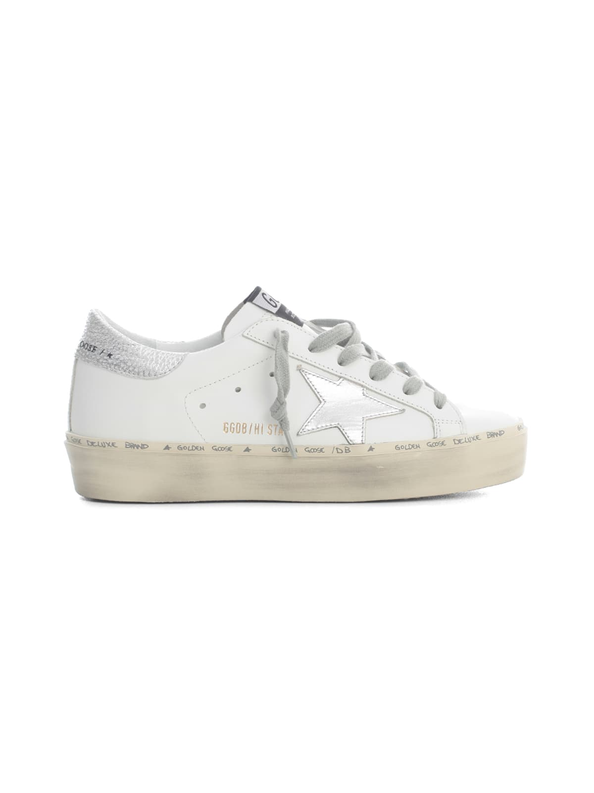 Golden Goose Leathers HI STAR LEATHER UPPER LAMINATED STAR AND HEEL