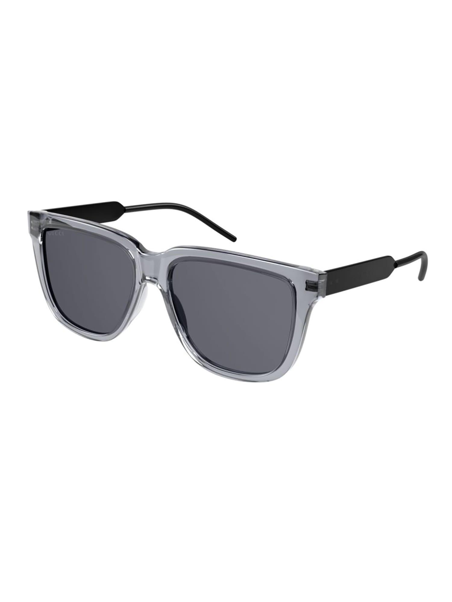 Gucci Gg0976s Sunglasses In Grey Black Smoke