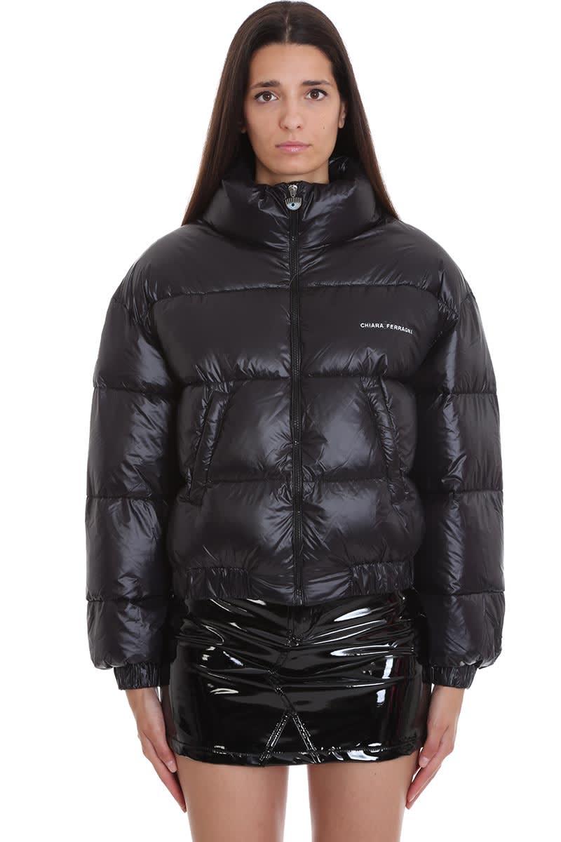 Chiara Ferragni Clothing In Black Patent Leather