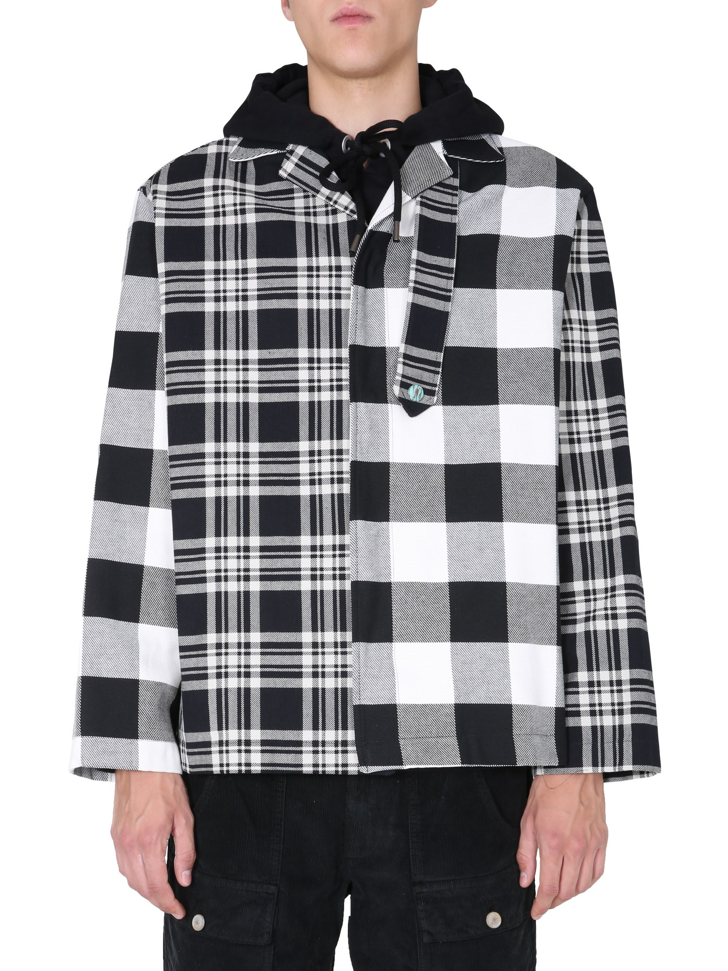 Palm Angels Cottons PATCHWORK CHECK JACKET