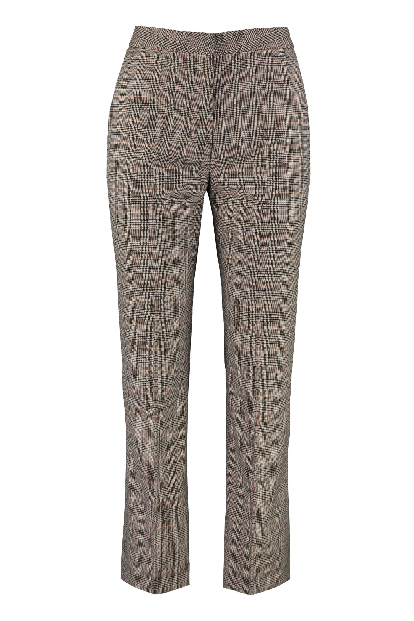 Stella McCartney Carlie Prince Of Wales Check Wool Trousers