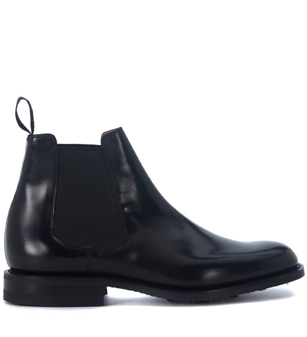 Churchs Redenham Black Brushed Leather Ankle Boots