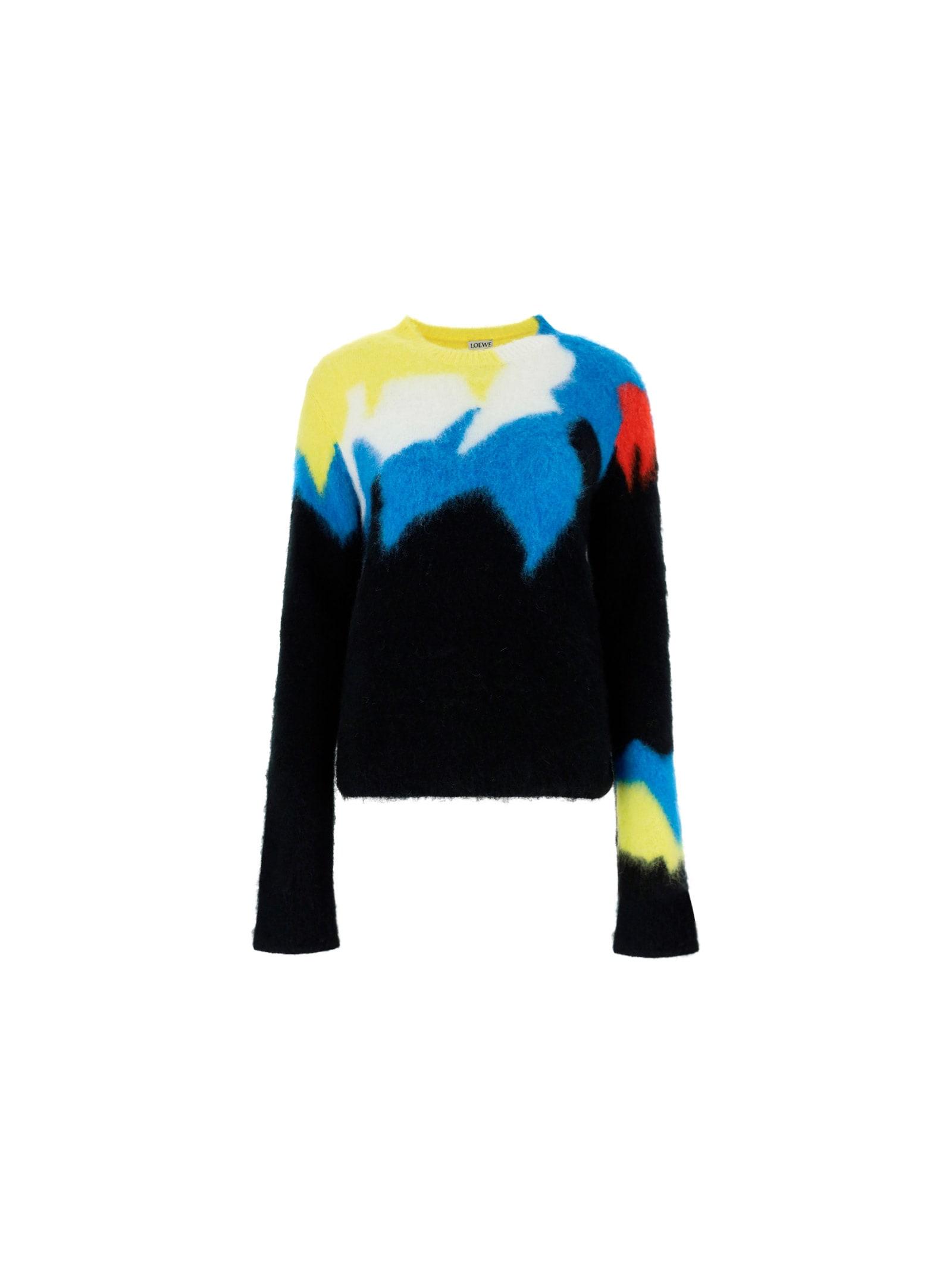 Loewe Sweatshirt In Black/multicolor
