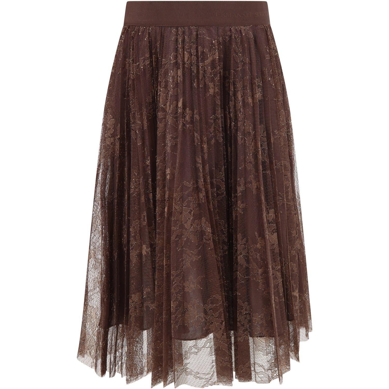 Brown Skirt For Girl