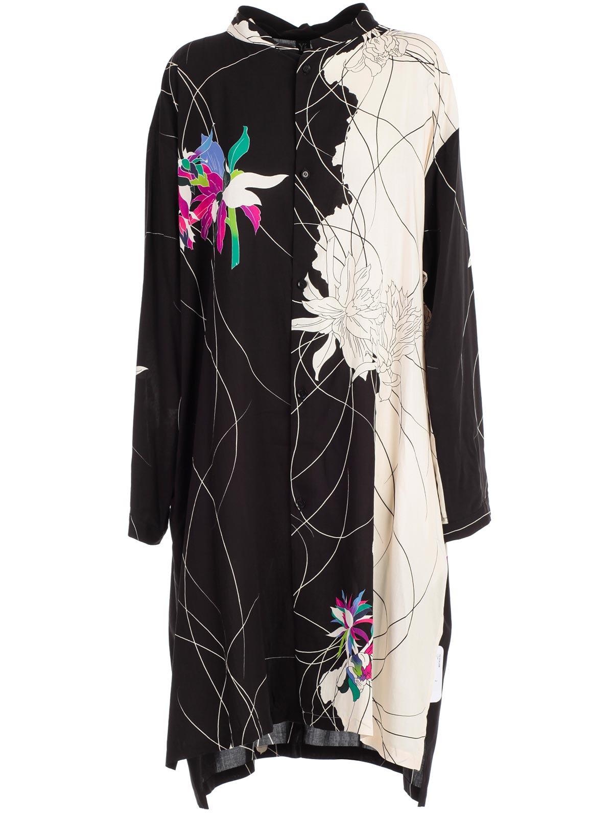 Ys Floral Print Oversized Dress