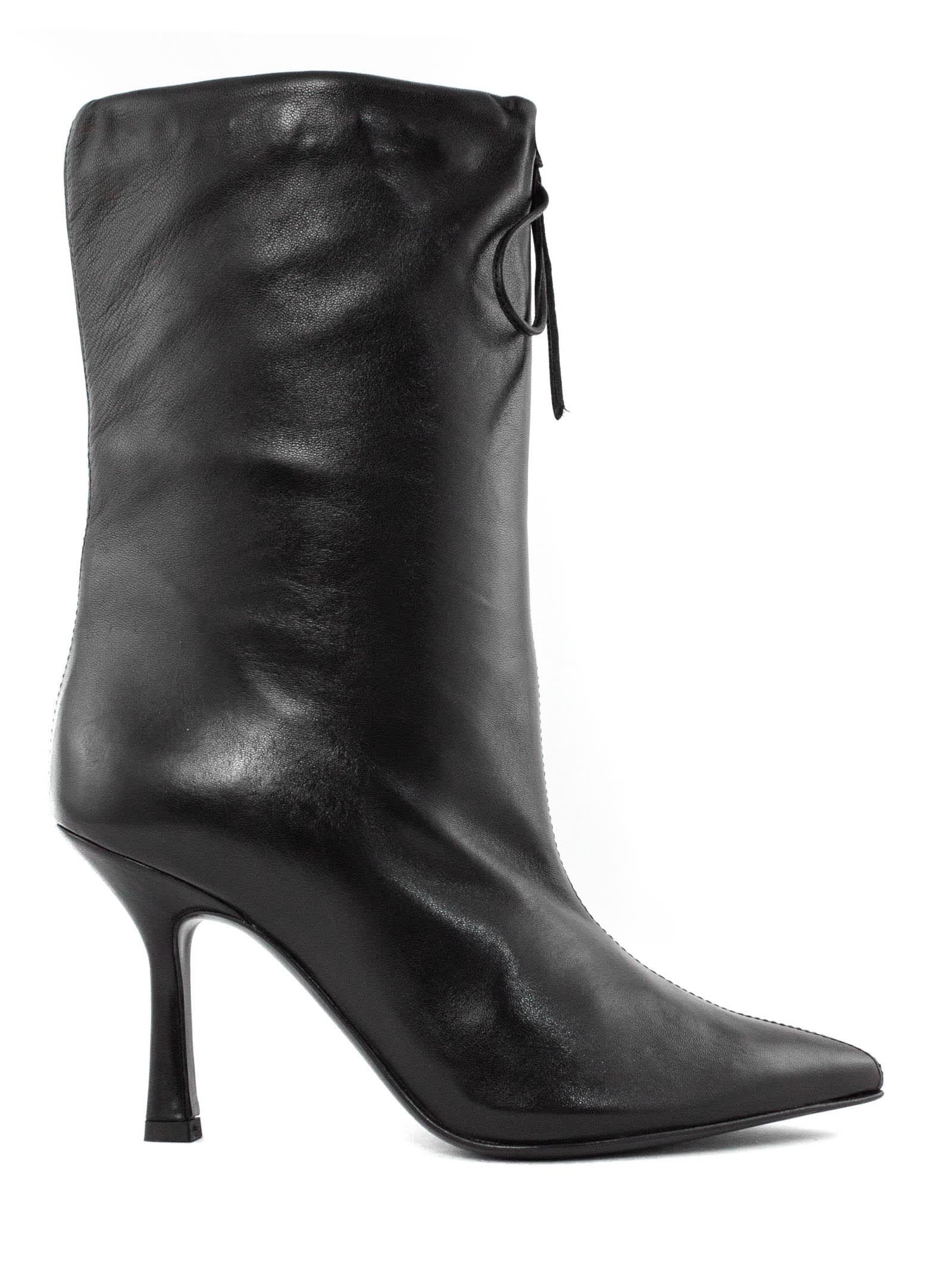 Michelle Ankle Boot In Black Leather
