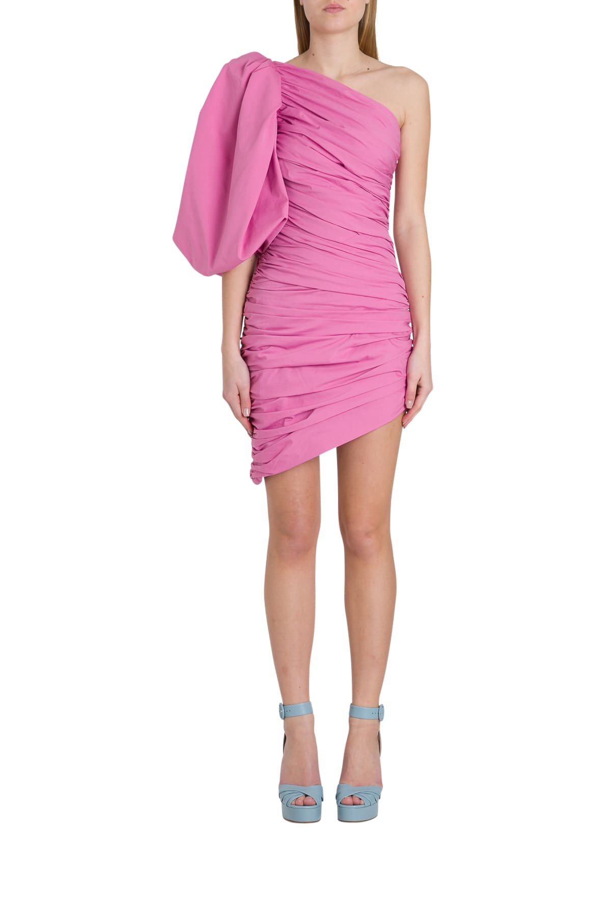 Buy Giuseppe di Morabito One-shoulder Dress With Balloon Sleeve online, shop Giuseppe di Morabito with free shipping