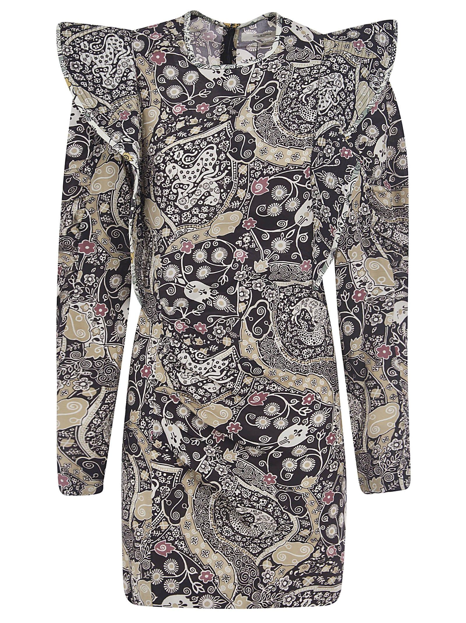 Buy Isabel Marant Étoile Multi-print Short Dress online, shop Isabel Marant Étoile with free shipping