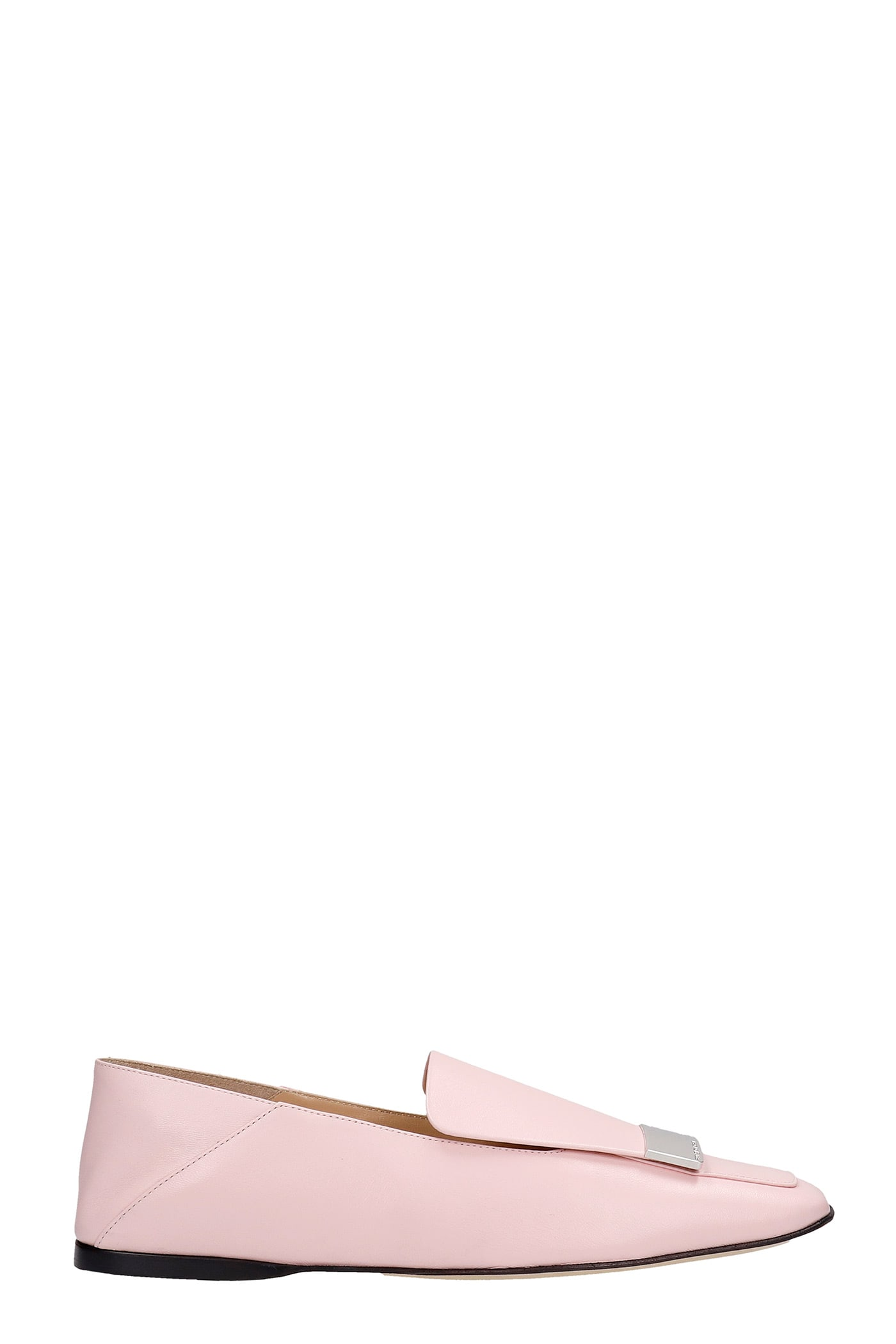 Buy Sergio Rossi Loafers In Rose-pink Leather online, shop Sergio Rossi shoes with free shipping