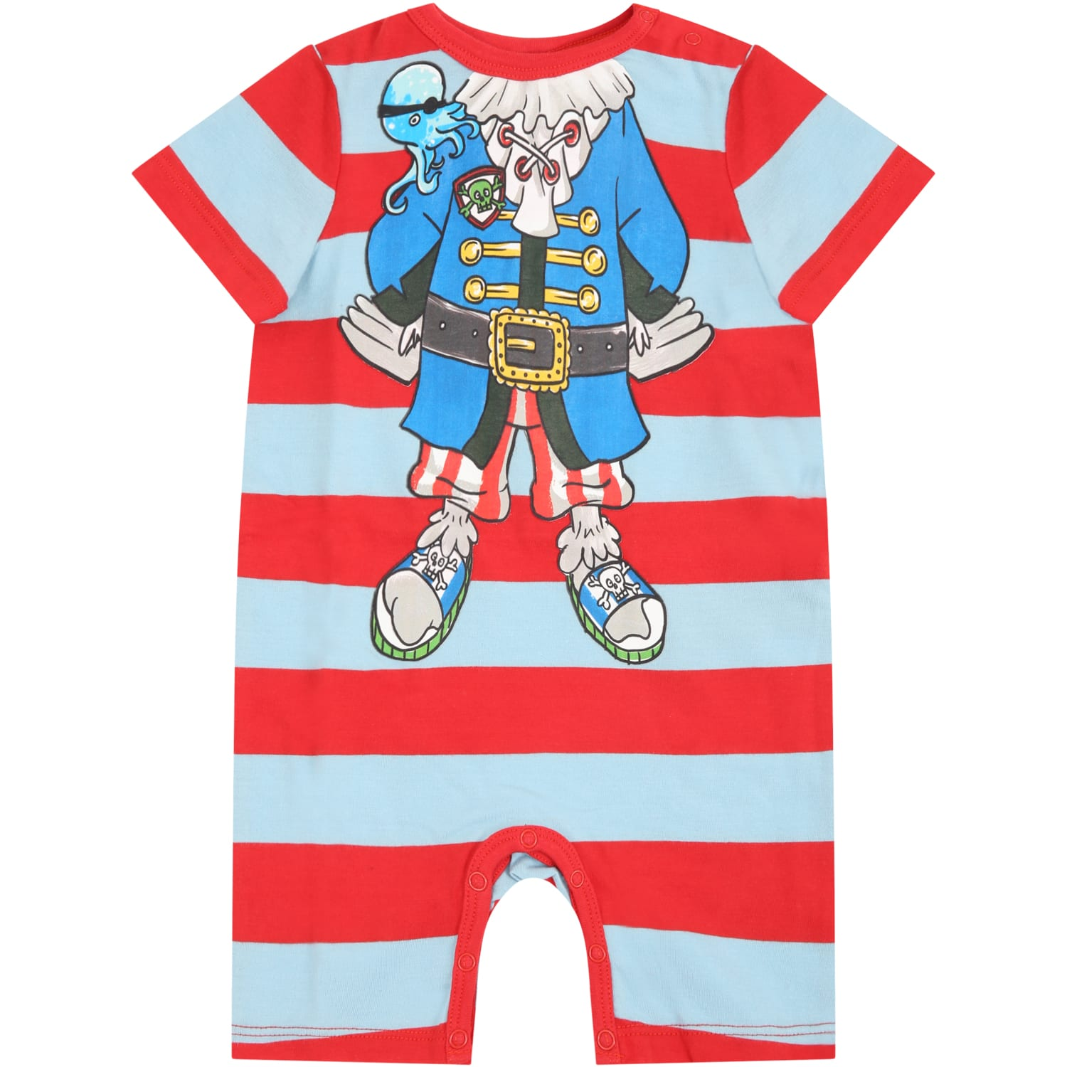 Stella Mccartney MULTICOLOR ROMPERS FOR BABYBOY WITH PIRATE