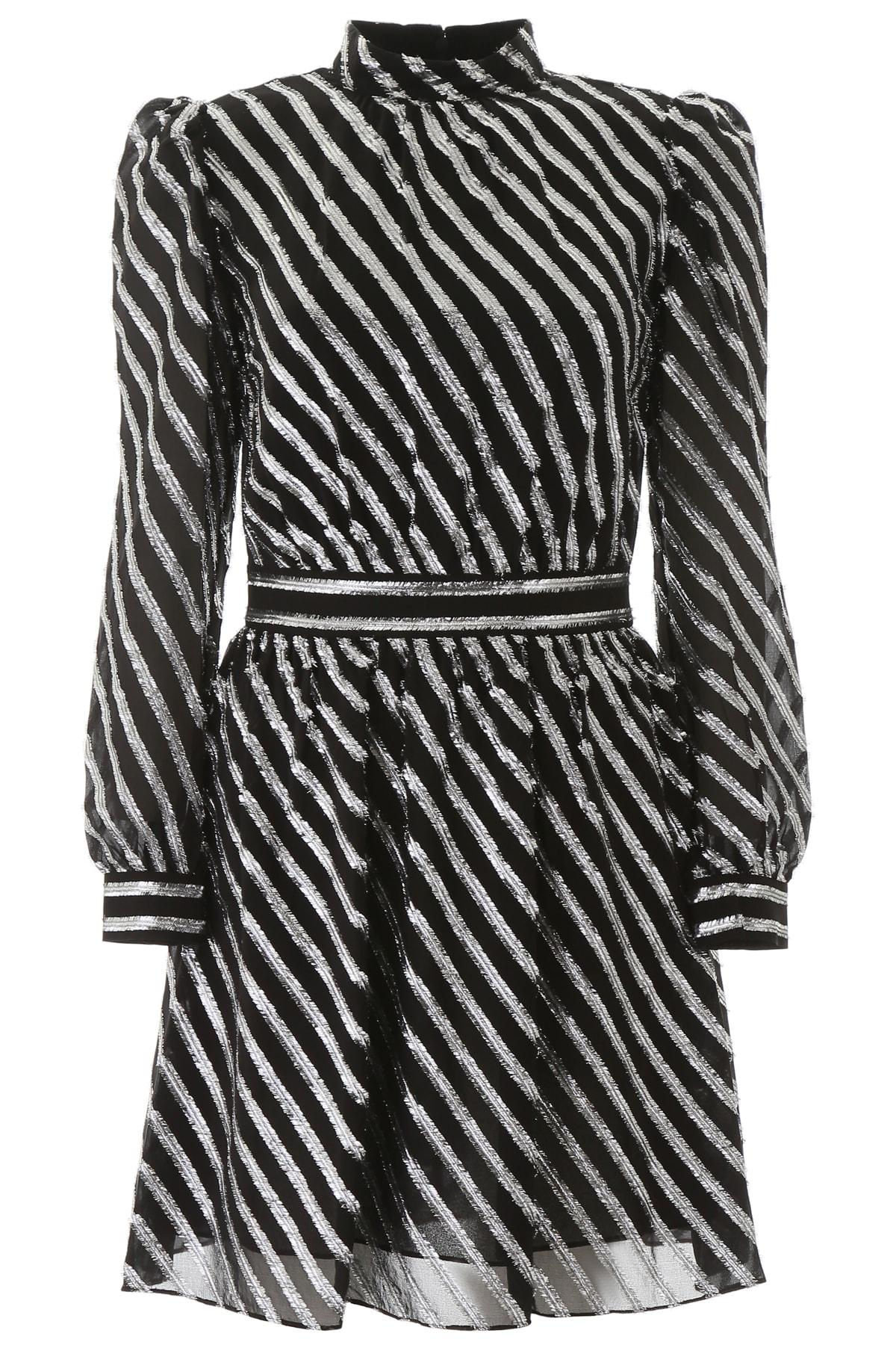 Buy MICHAEL Michael Kors Lurex Striped Mini Dress online, shop MICHAEL Michael Kors with free shipping