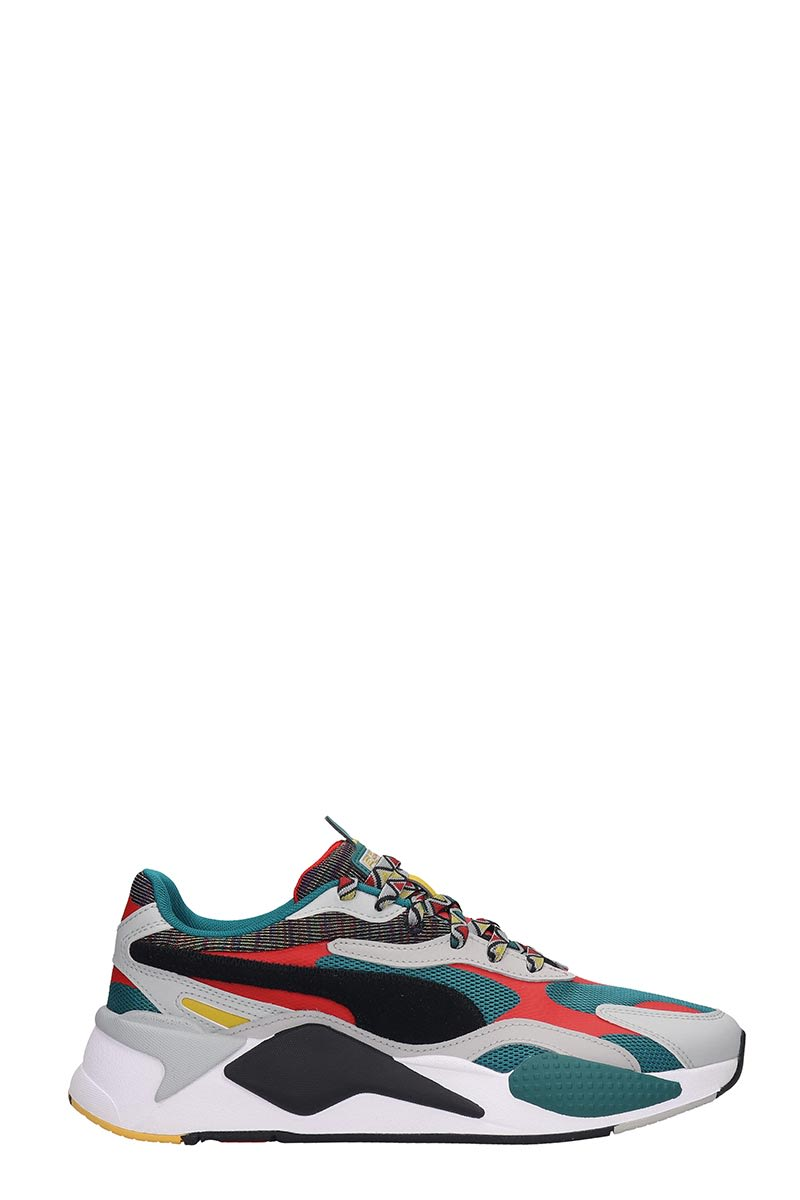 Puma Rs-x Mix Sneakers In Green Tech/synthetic