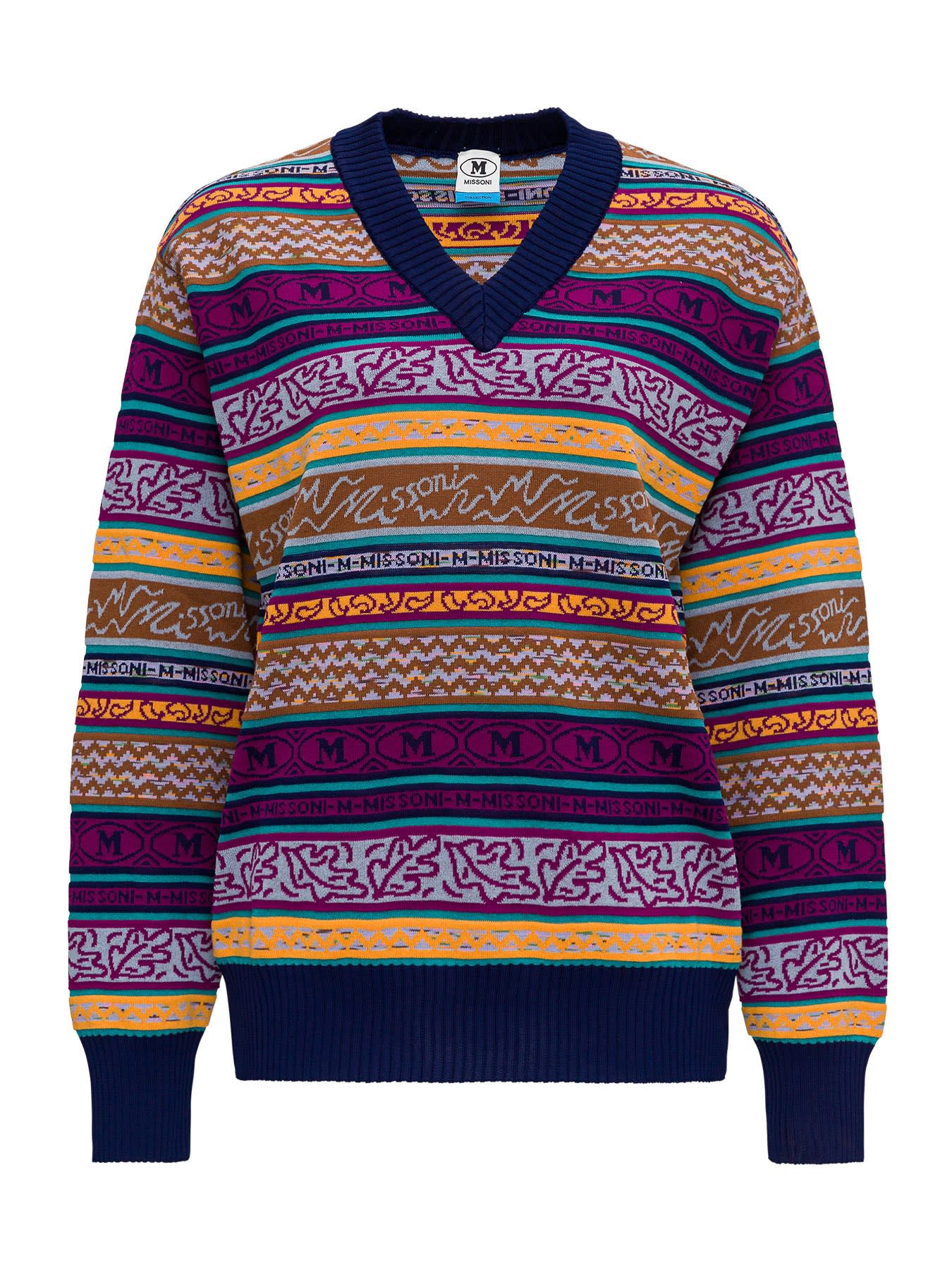 M Missoni ALL OVER LOGO JUMPER