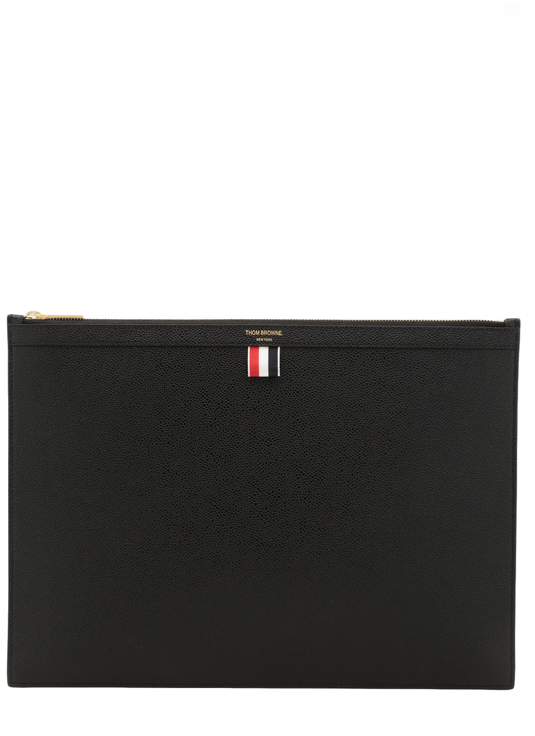 Thom Browne PEBBLED LEATHER DOCUMENT HOLDER