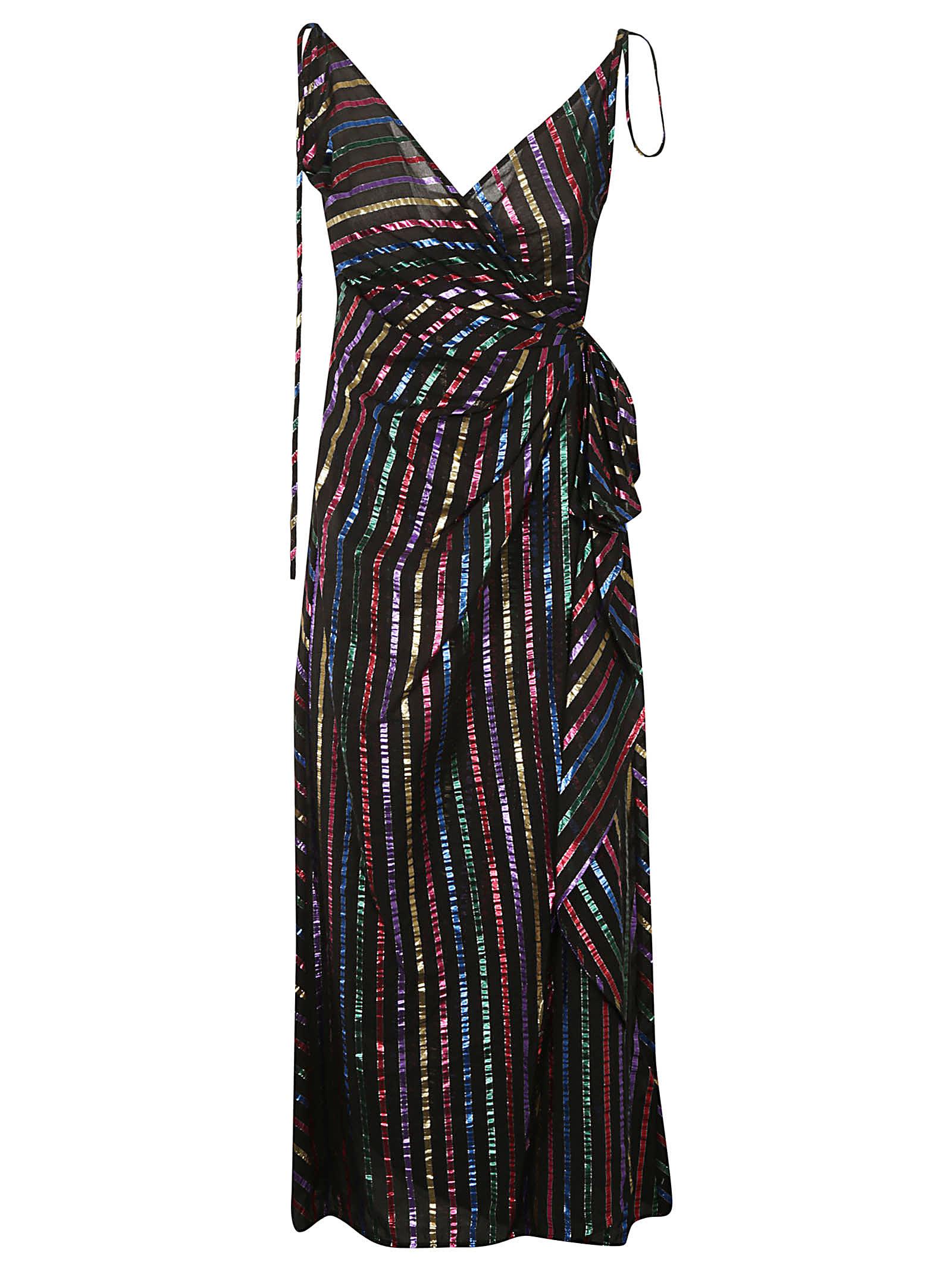 Photo of  The Attico Striped Slip Dress- shop The Attico  online sales