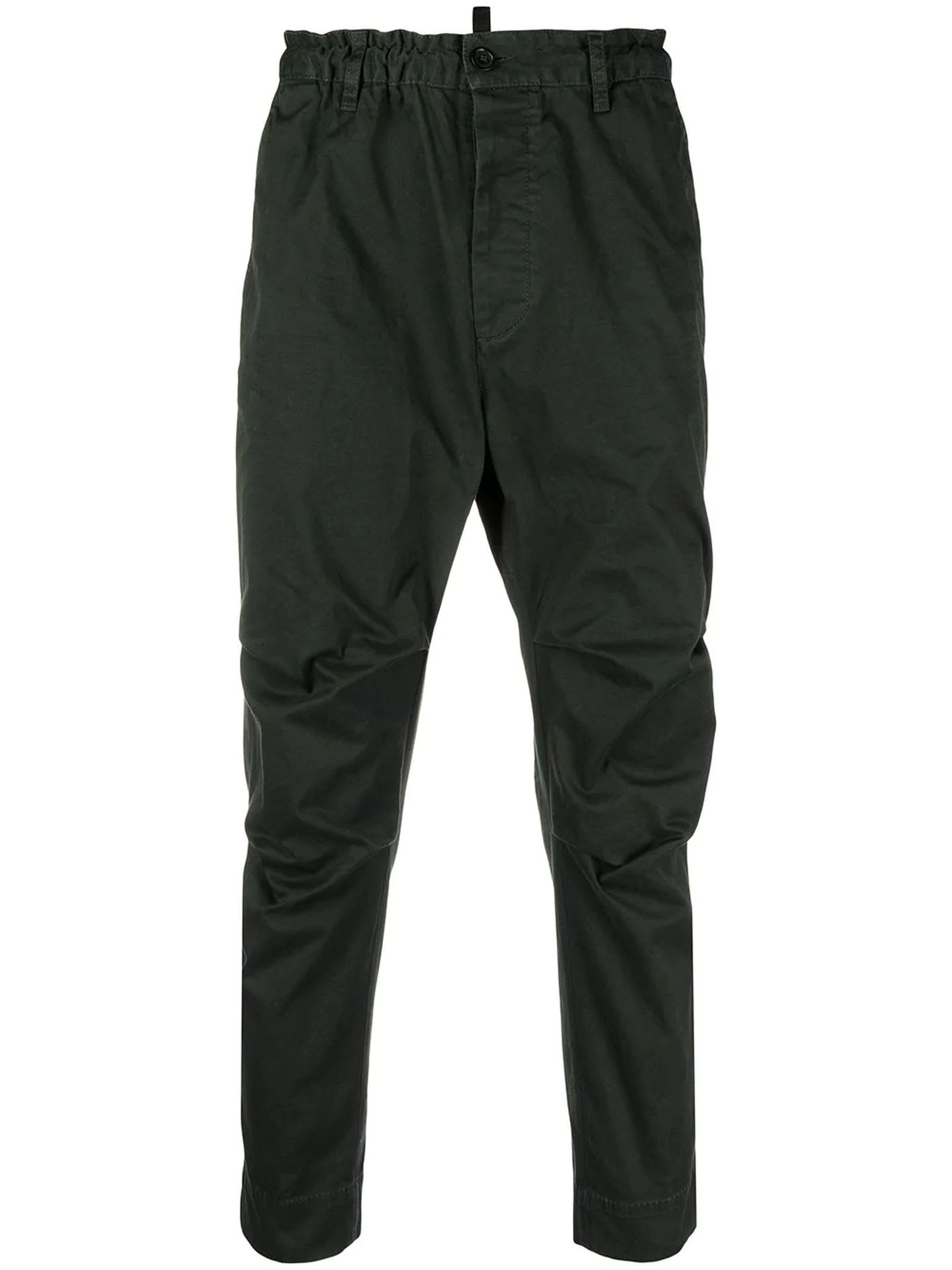 Dsquared2 DARK GREEN COTTON CHINOS