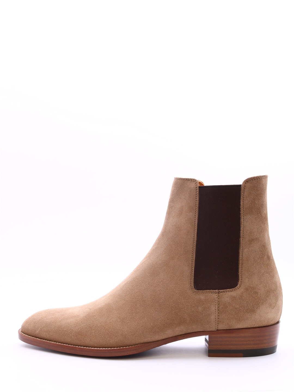 d29dc9a0f97 Saint Laurent Saint Laurent Wyatt Chelsea Boots - Beige - 10968469 ...