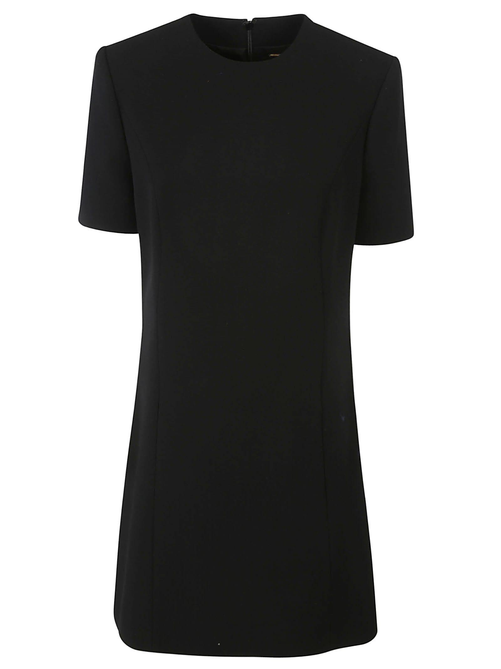 Buy Saint Laurent Rear Zipped Short Dress online, shop Saint Laurent with free shipping