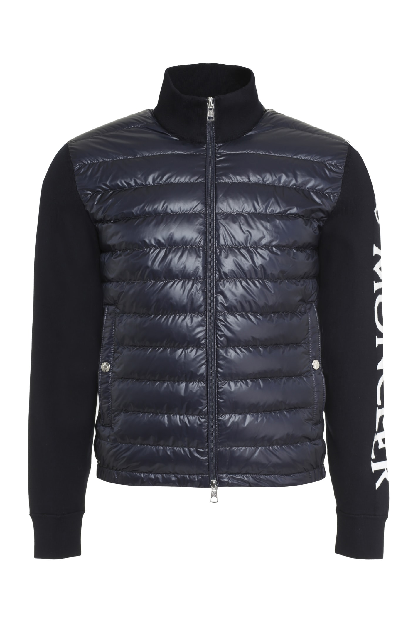 Moncler Downs CARDIGAN WITH PADDED FRONT PANEL